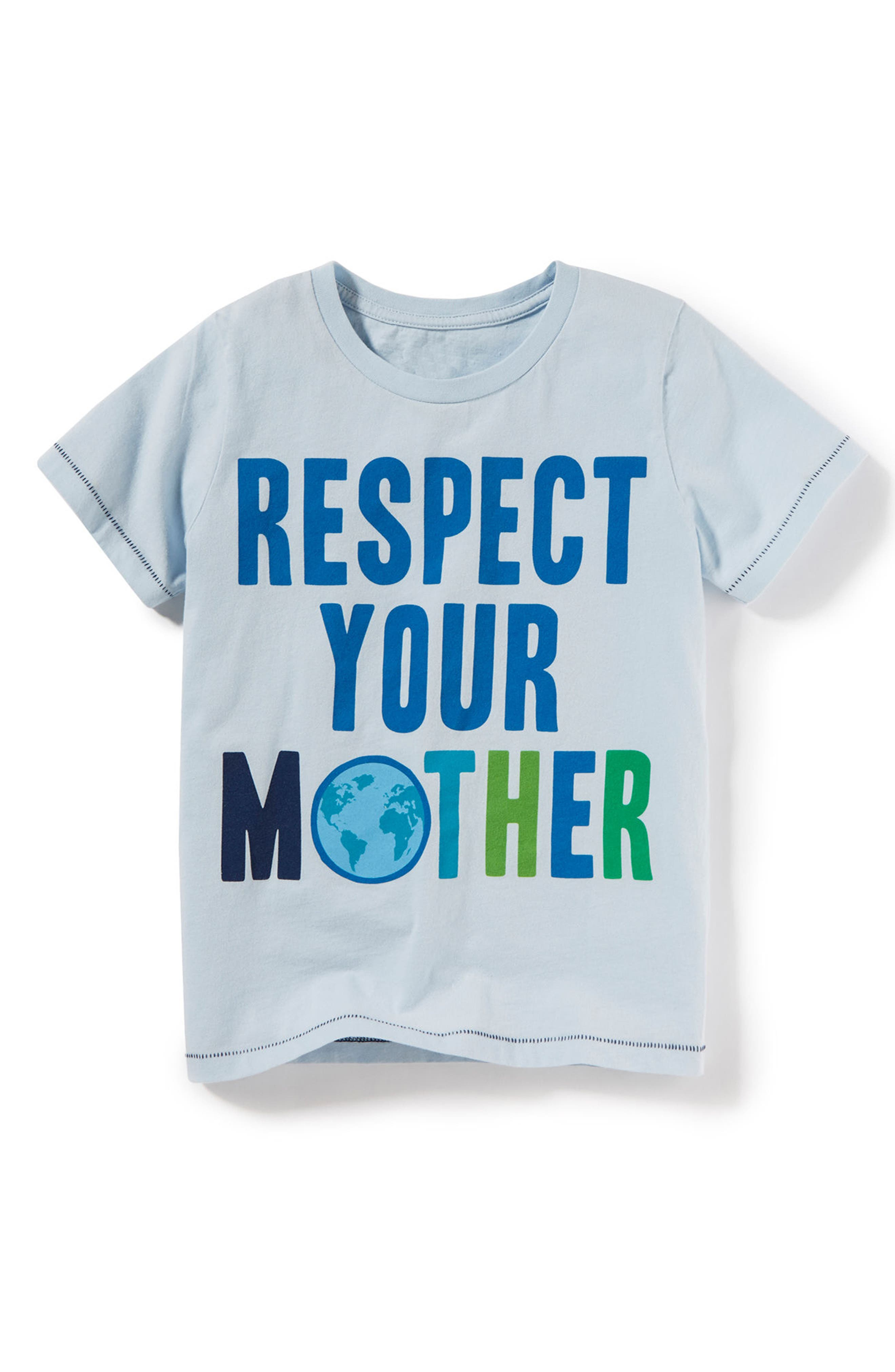 Respect Your Mother Graphic T-Shirt,                         Main,                         color, Blue