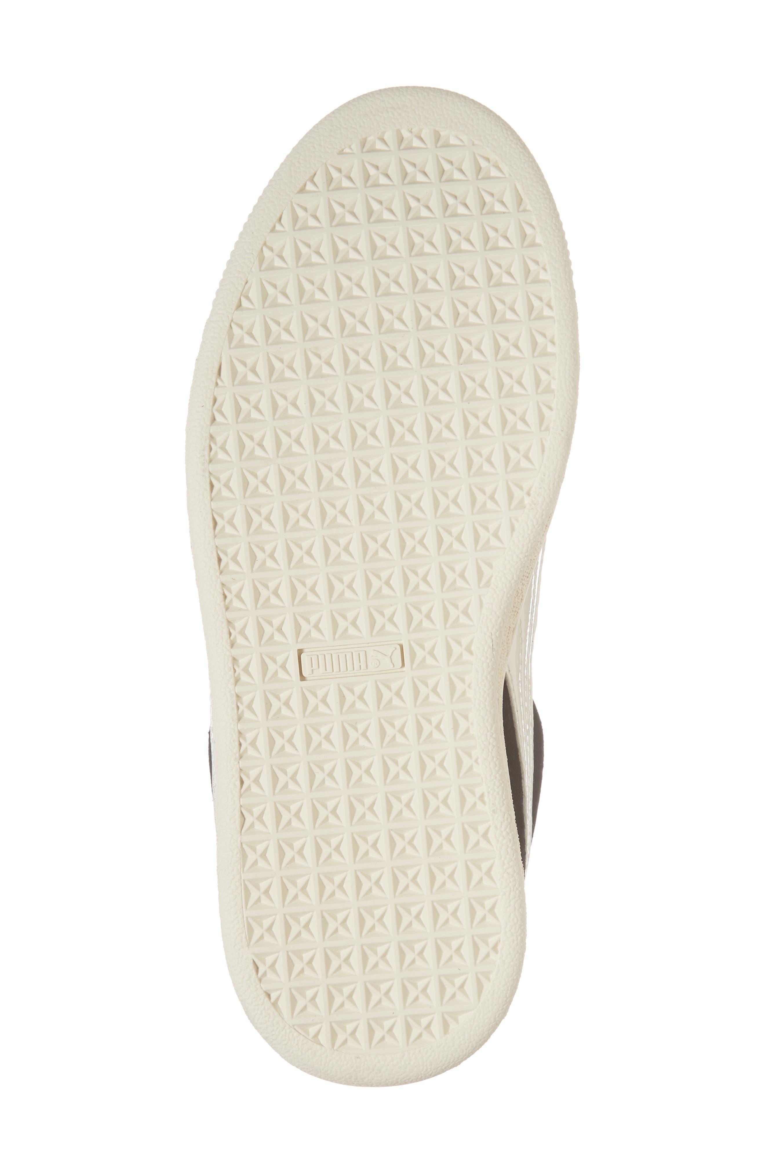 Suede Heart Sneaker,                             Alternate thumbnail 6, color,                             Puma Black/ Whisper White