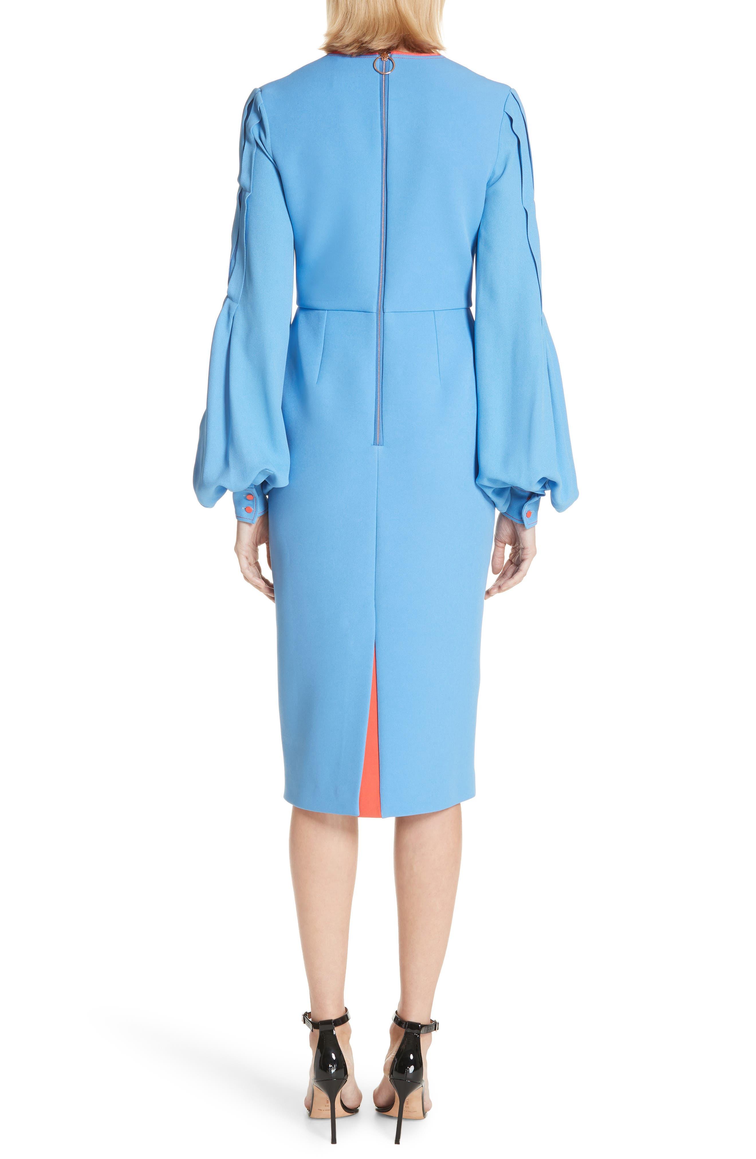 Alternate Image 2  - Roksanda Essi Balloon Sleeve Crepe Satin Dress
