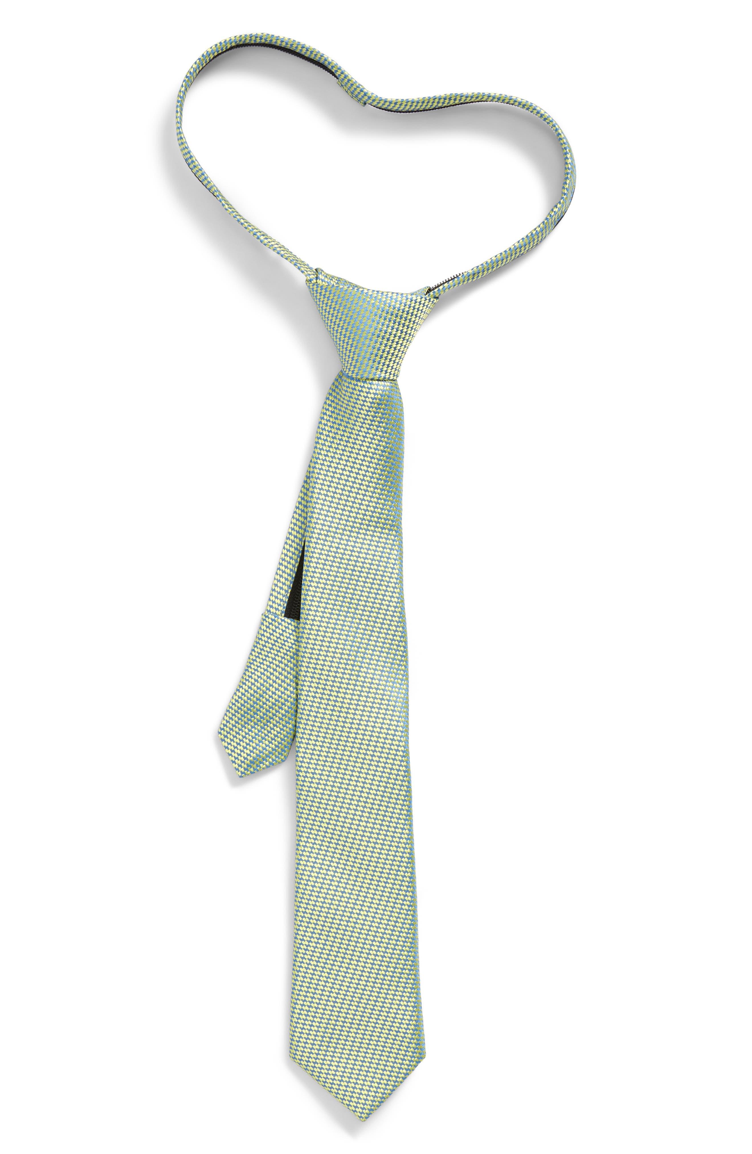 Digital Neat Silk Zip Tie,                         Main,                         color, Lemon