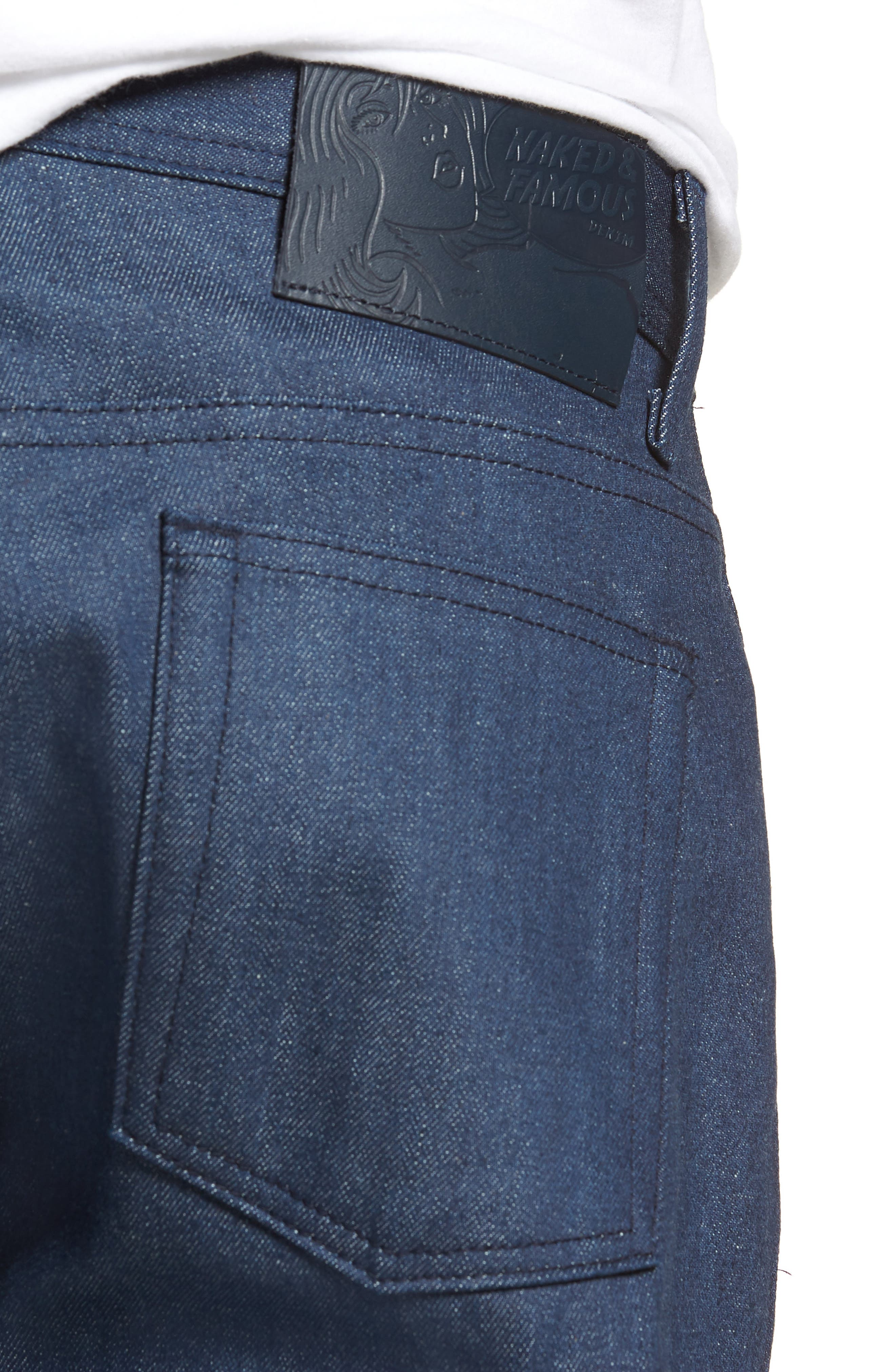 Weird Guy Slim Fit Jeans,                             Alternate thumbnail 4, color,                             Workmans Blue