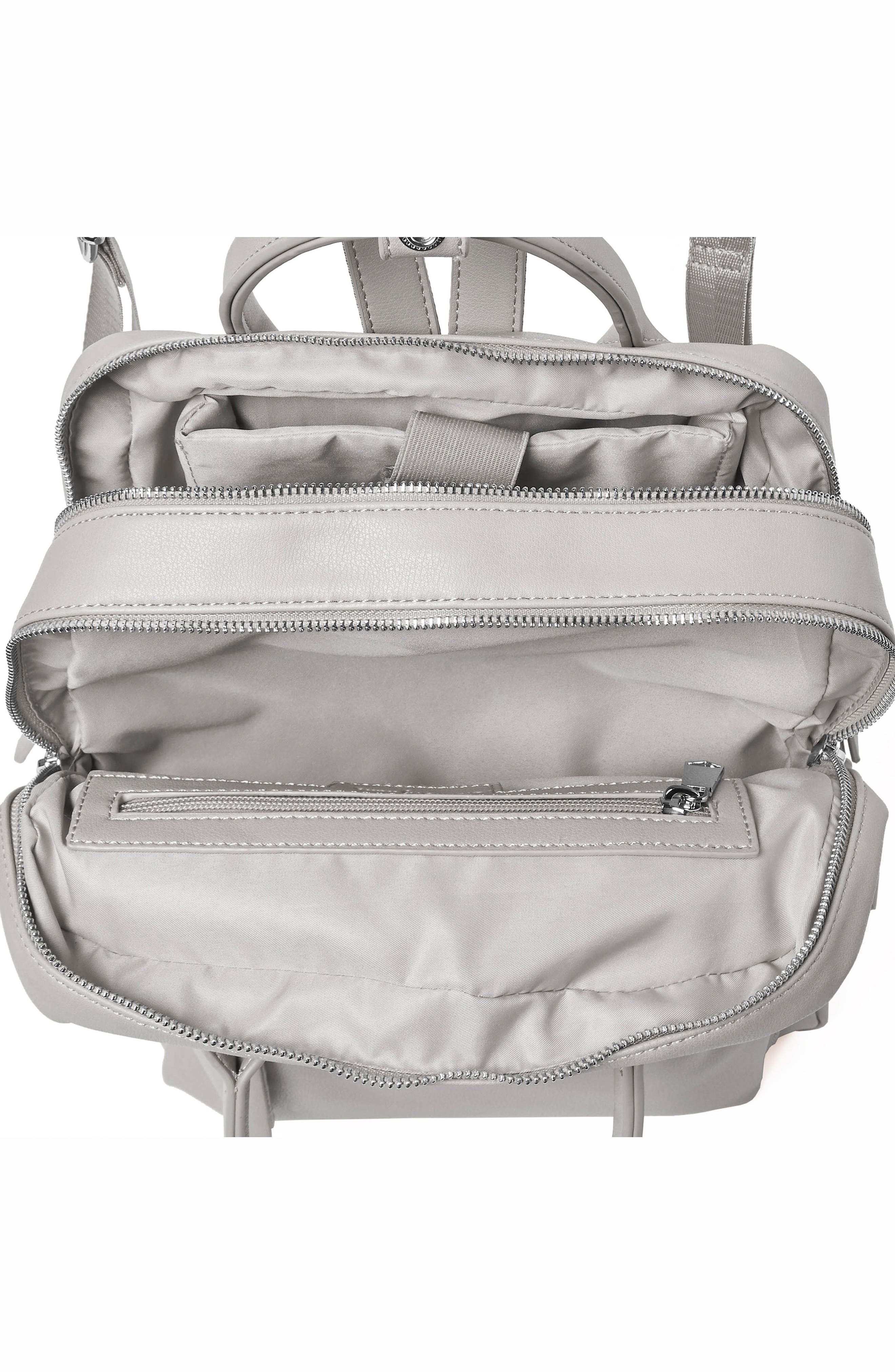 Over Exposure Vegan Leather Backpack,                             Alternate thumbnail 3, color,                             Grey