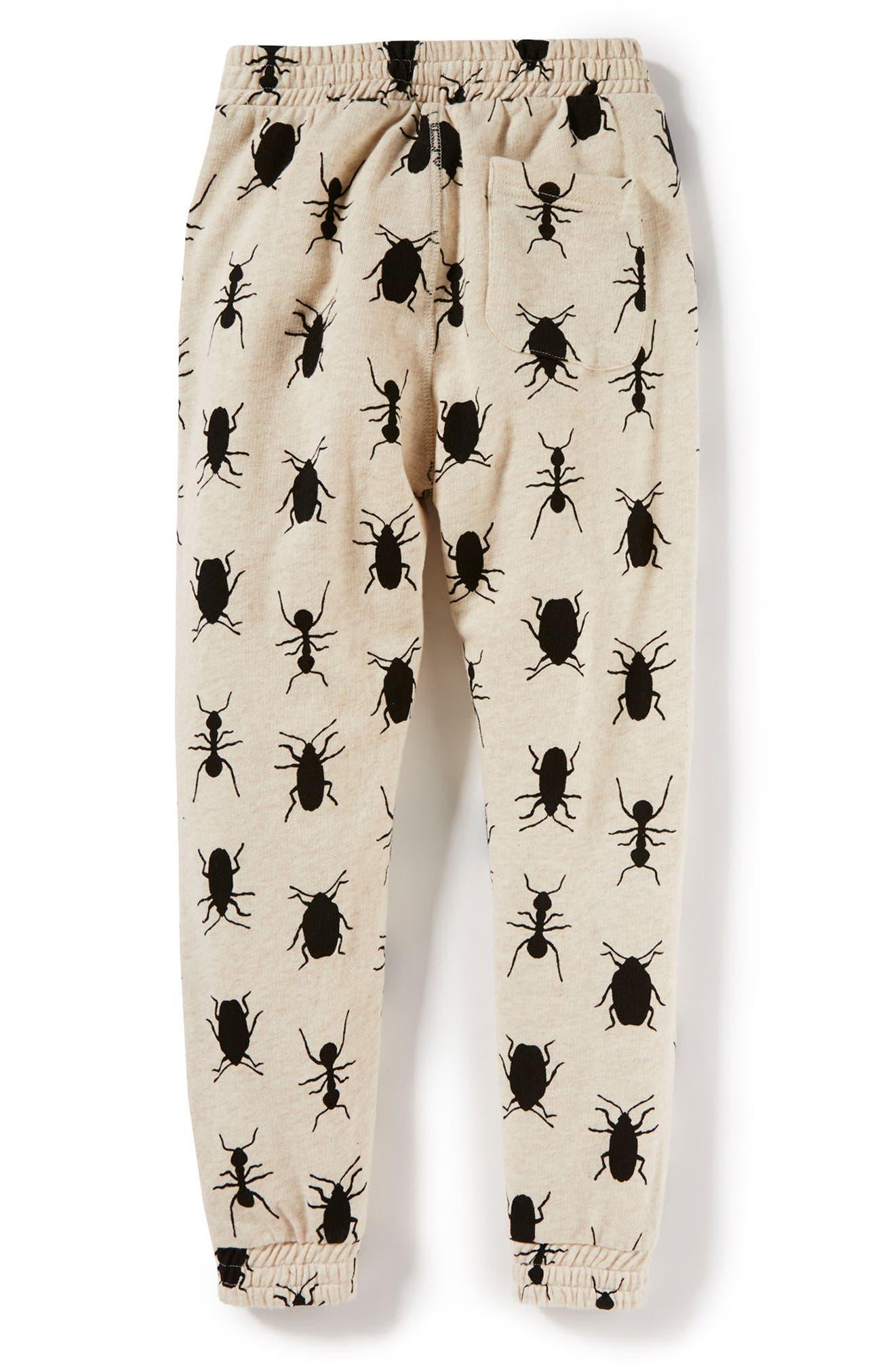 Bug Print Jogger Pants,                             Alternate thumbnail 2, color,                             Oatmeal