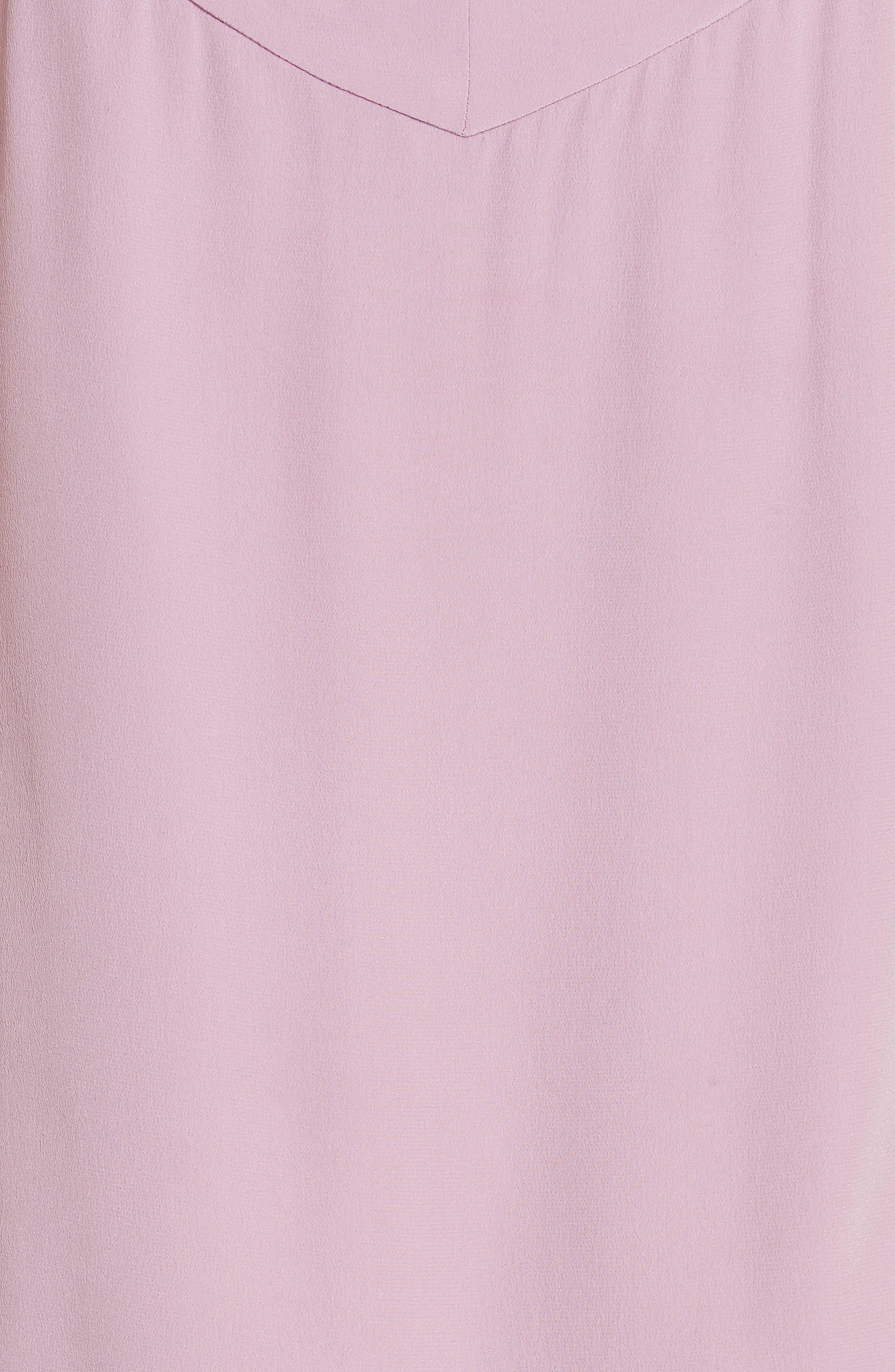 Jada Asymmetrical Silk Slip Dress,                             Alternate thumbnail 6, color,                             Orchid Smoke