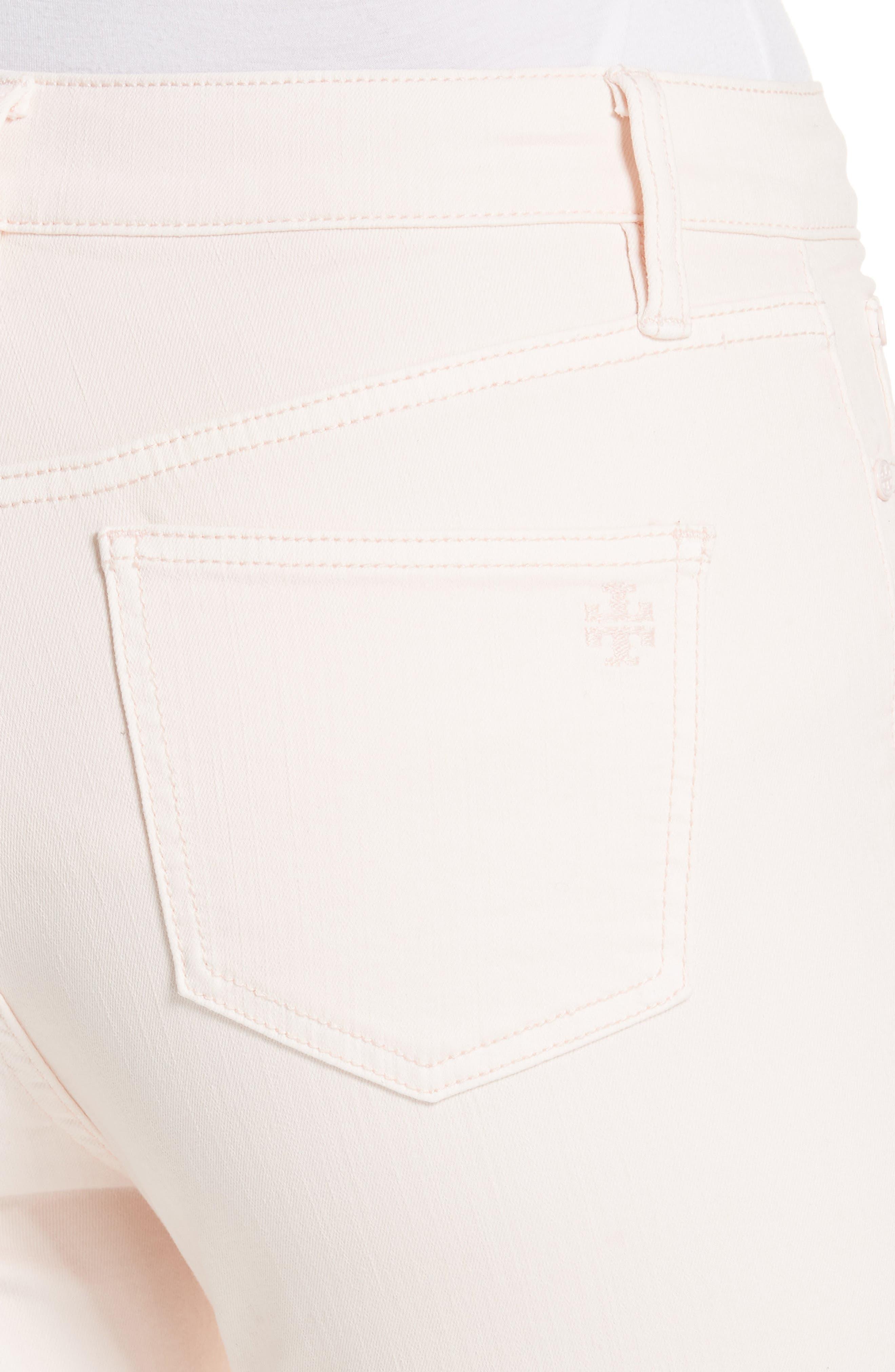 Mara Crop Skinny Jeans,                             Alternate thumbnail 4, color,                             Ballet Pink