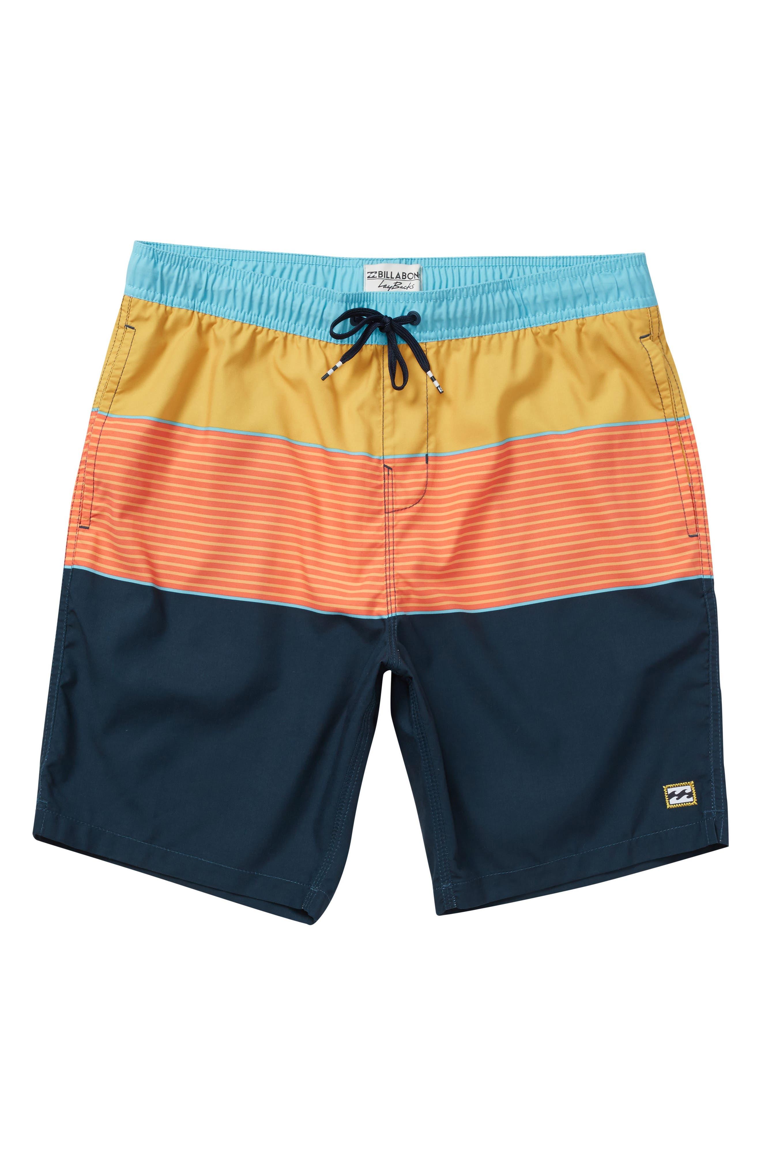 Tribong Layback Board Shorts,                         Main,                         color, Orange