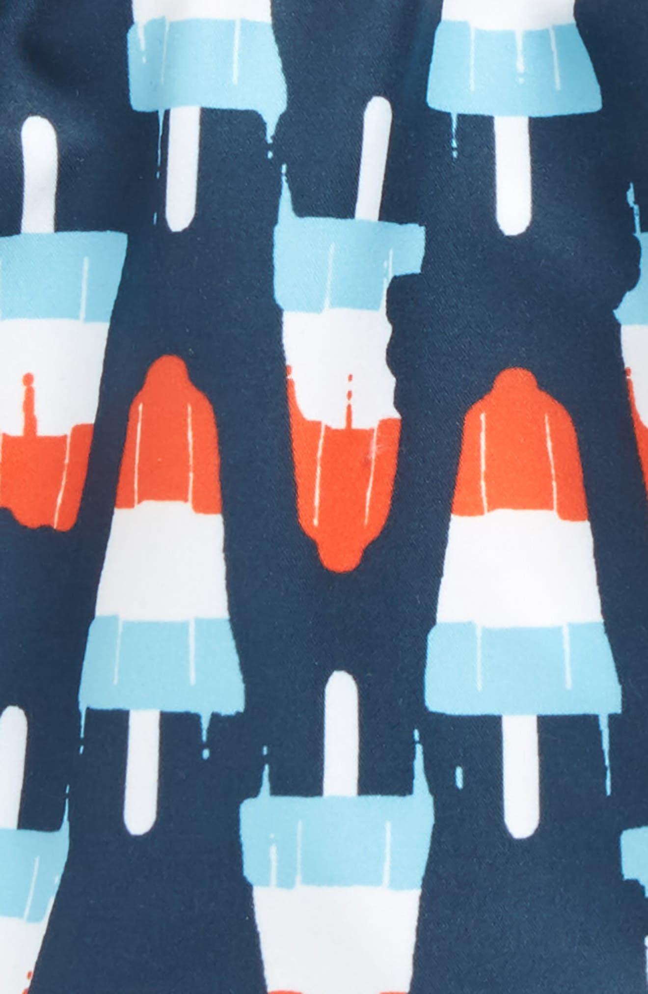 Print Swim Trunks,                             Alternate thumbnail 2, color,                             Navy Dress Popsicles