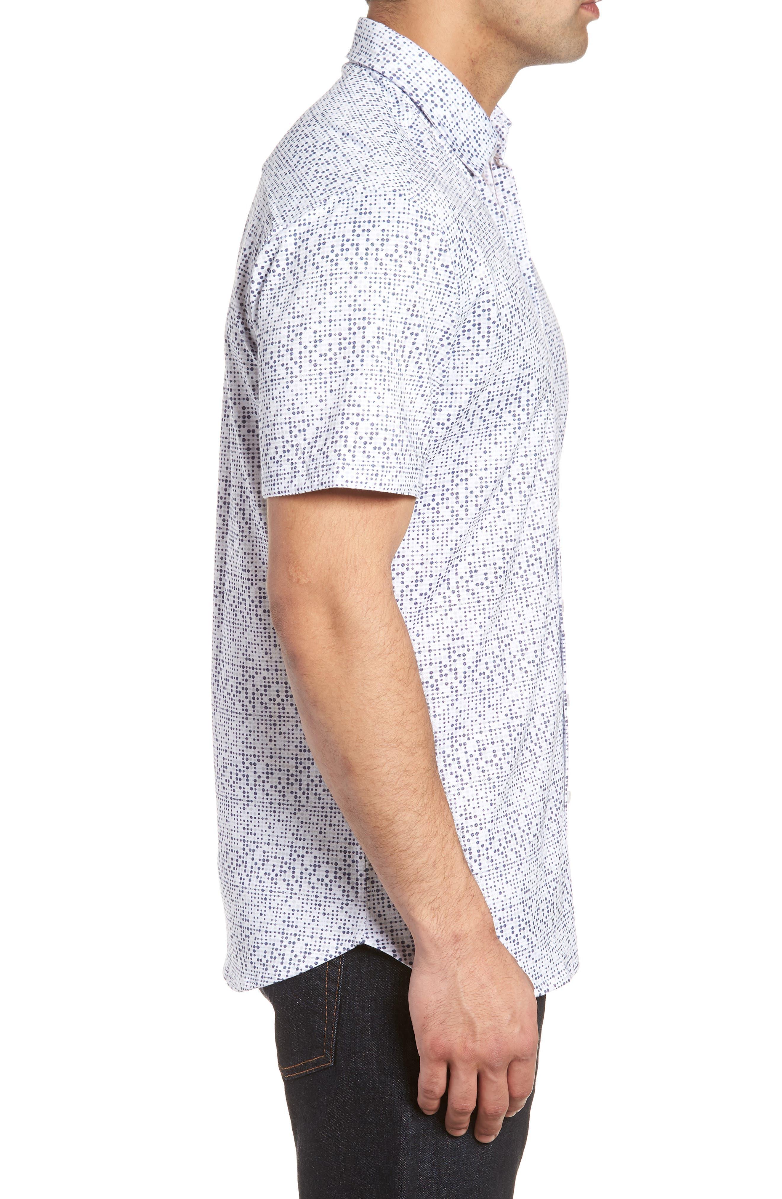 Knit Sport Shirt,                             Alternate thumbnail 3, color,                             White