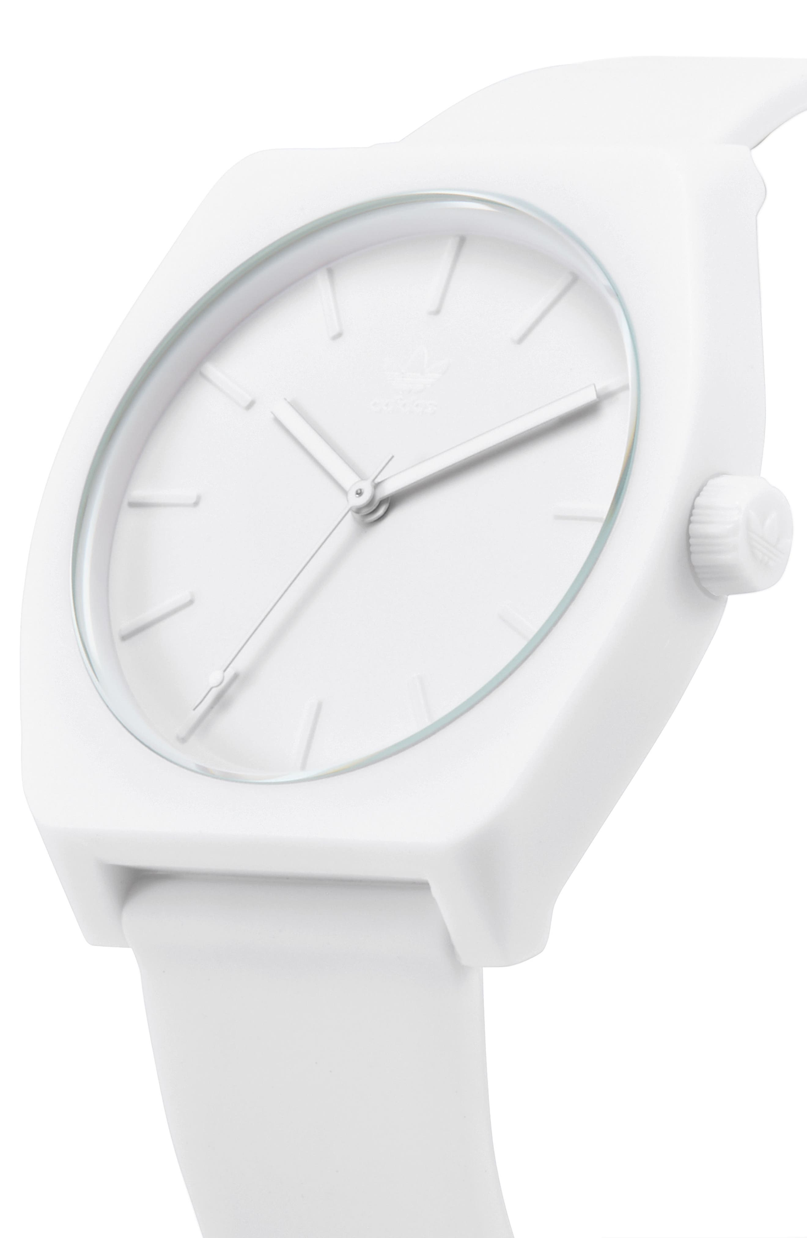 Alternate Image 4  - adidas Process Silicone Strap Watch, 38mm