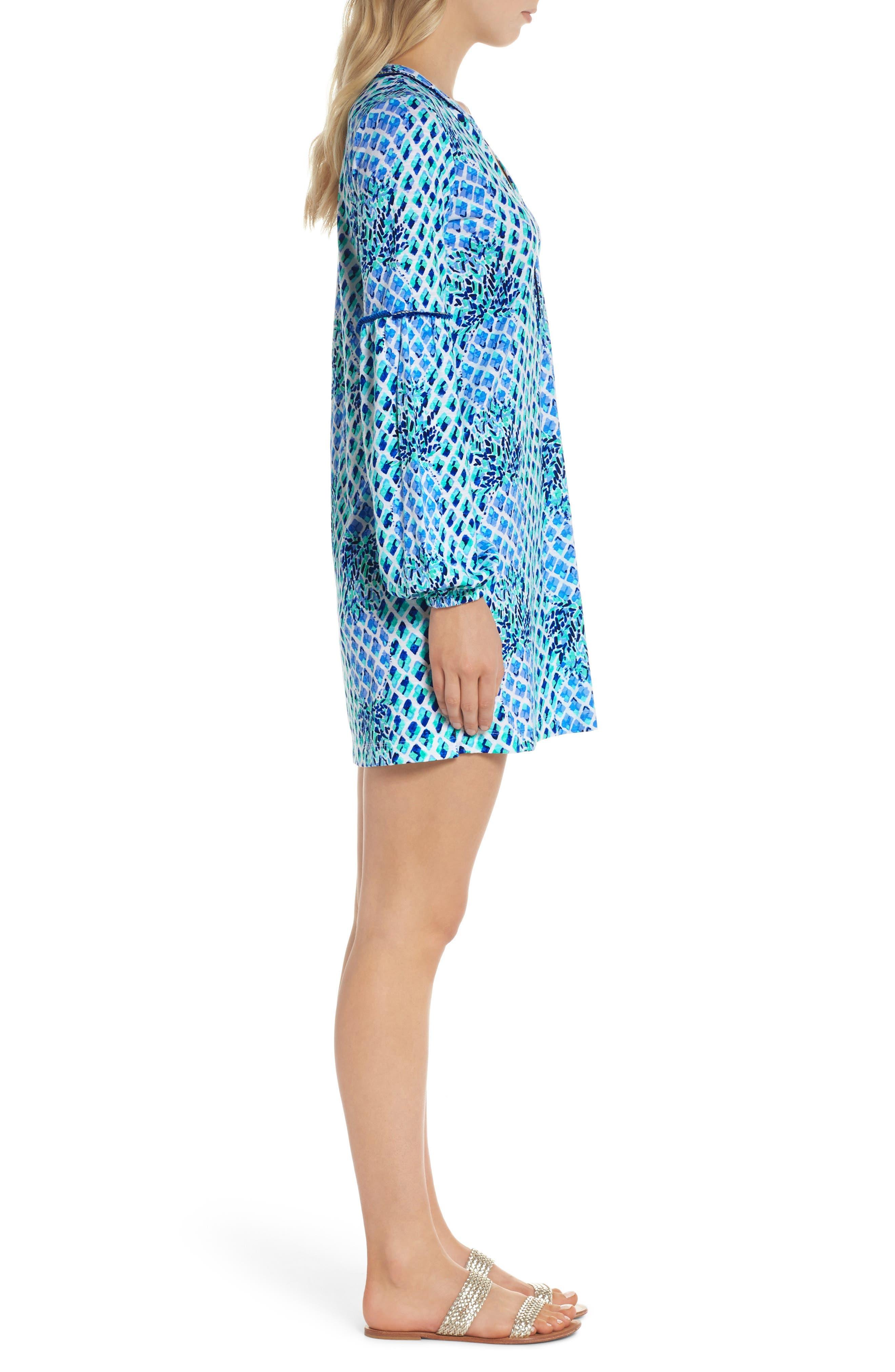 Joy Tunic Dress,                             Alternate thumbnail 3, color,                             Resort White Toe In
