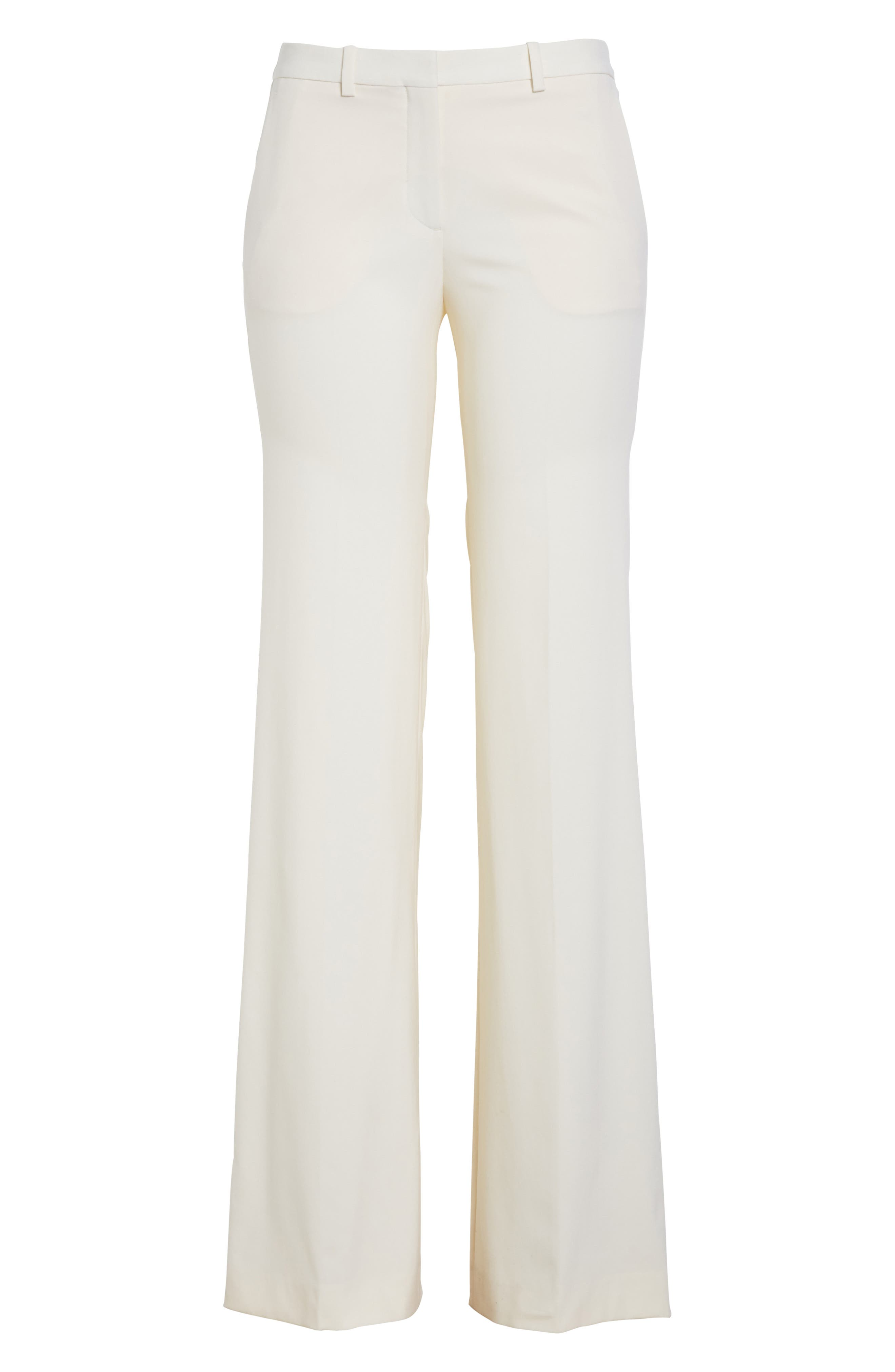 Demitria Polished Wool Pants,                             Alternate thumbnail 6, color,                             White