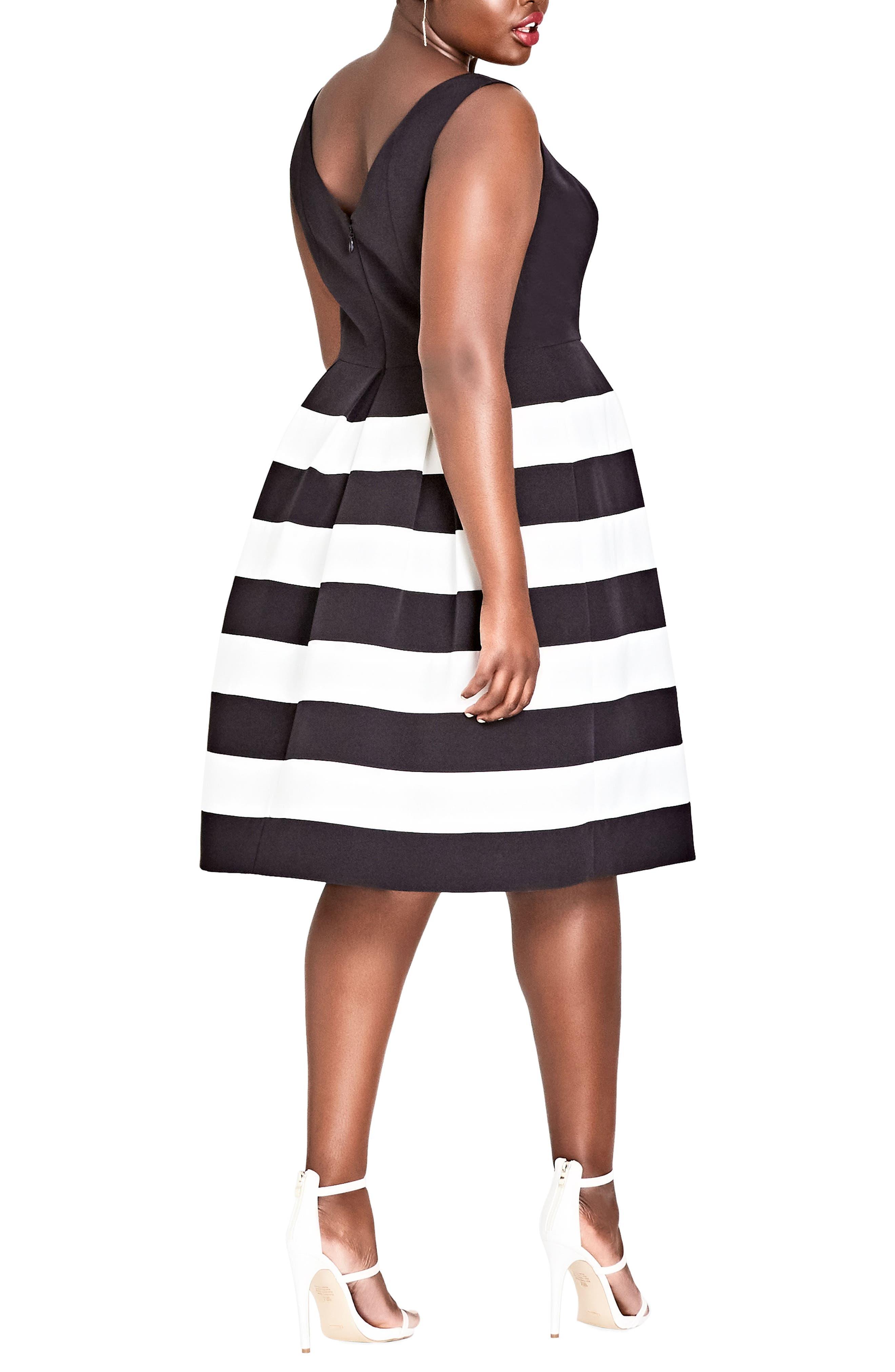 Alternate Image 2  - City Chic Fair Lady Fit & Flare Dress (Plus Size)
