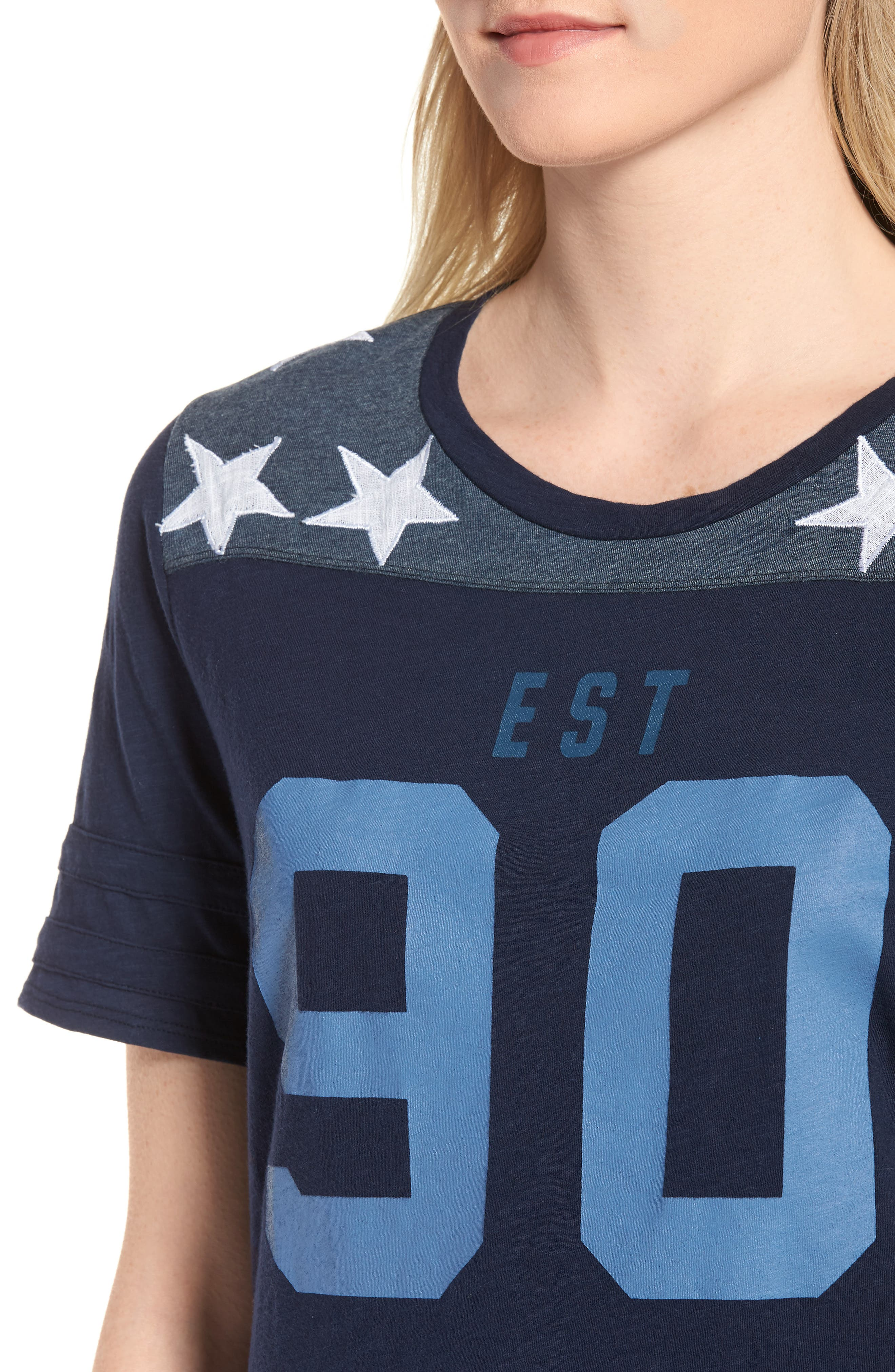 '90s Football Tee,                             Alternate thumbnail 4, color,                             American Navy