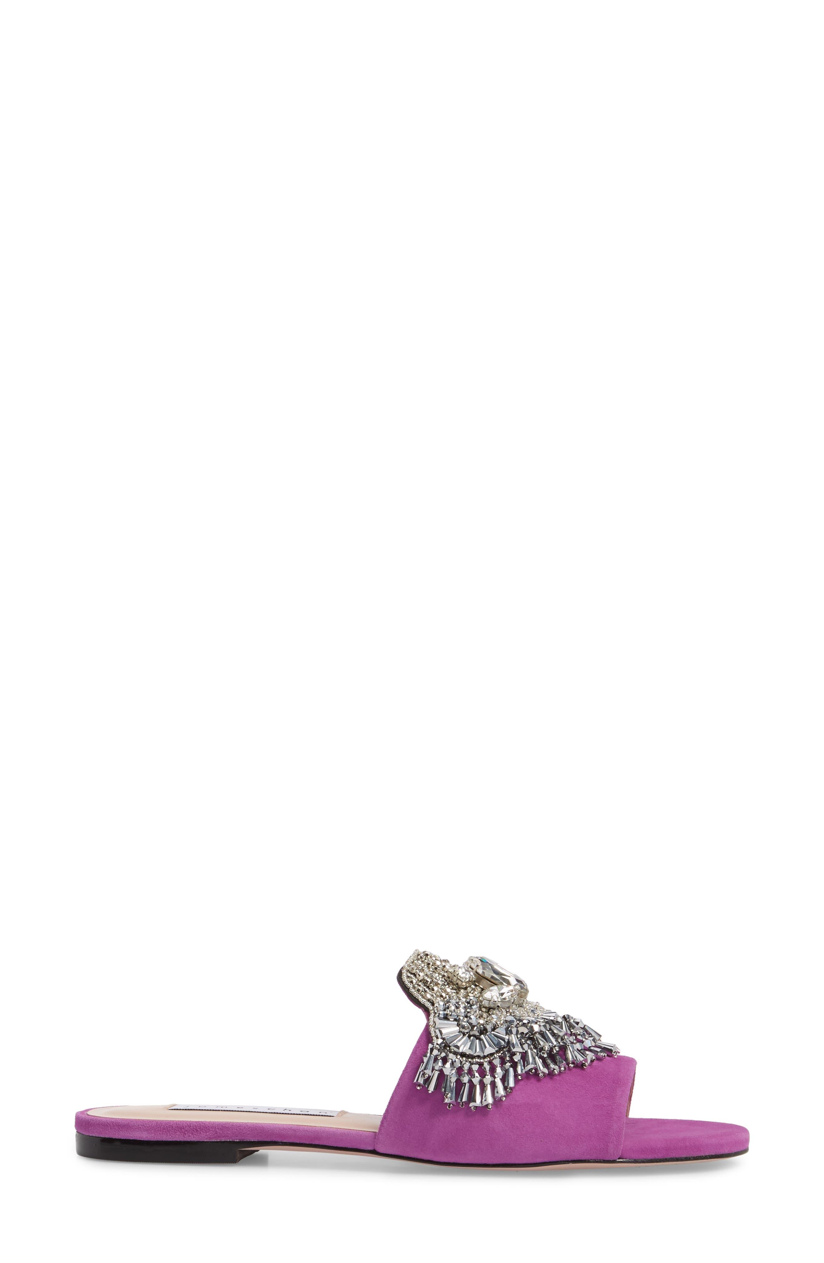 Alternate Image 3  - James Chan Jallie Crystal Embellished Slide (Women)