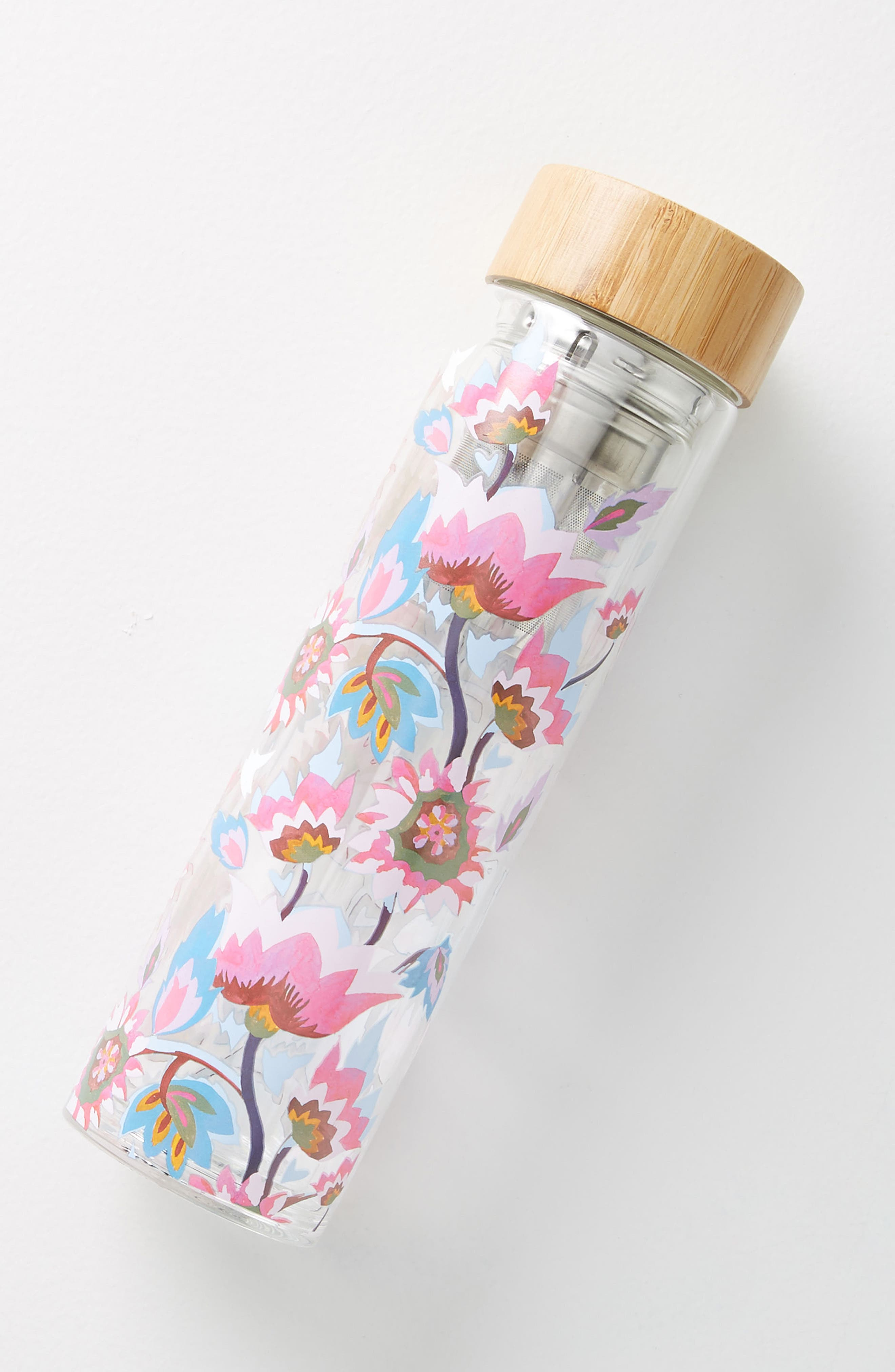 Tia Infuser Water Bottle,                             Main thumbnail 1, color,                             Dark Pink