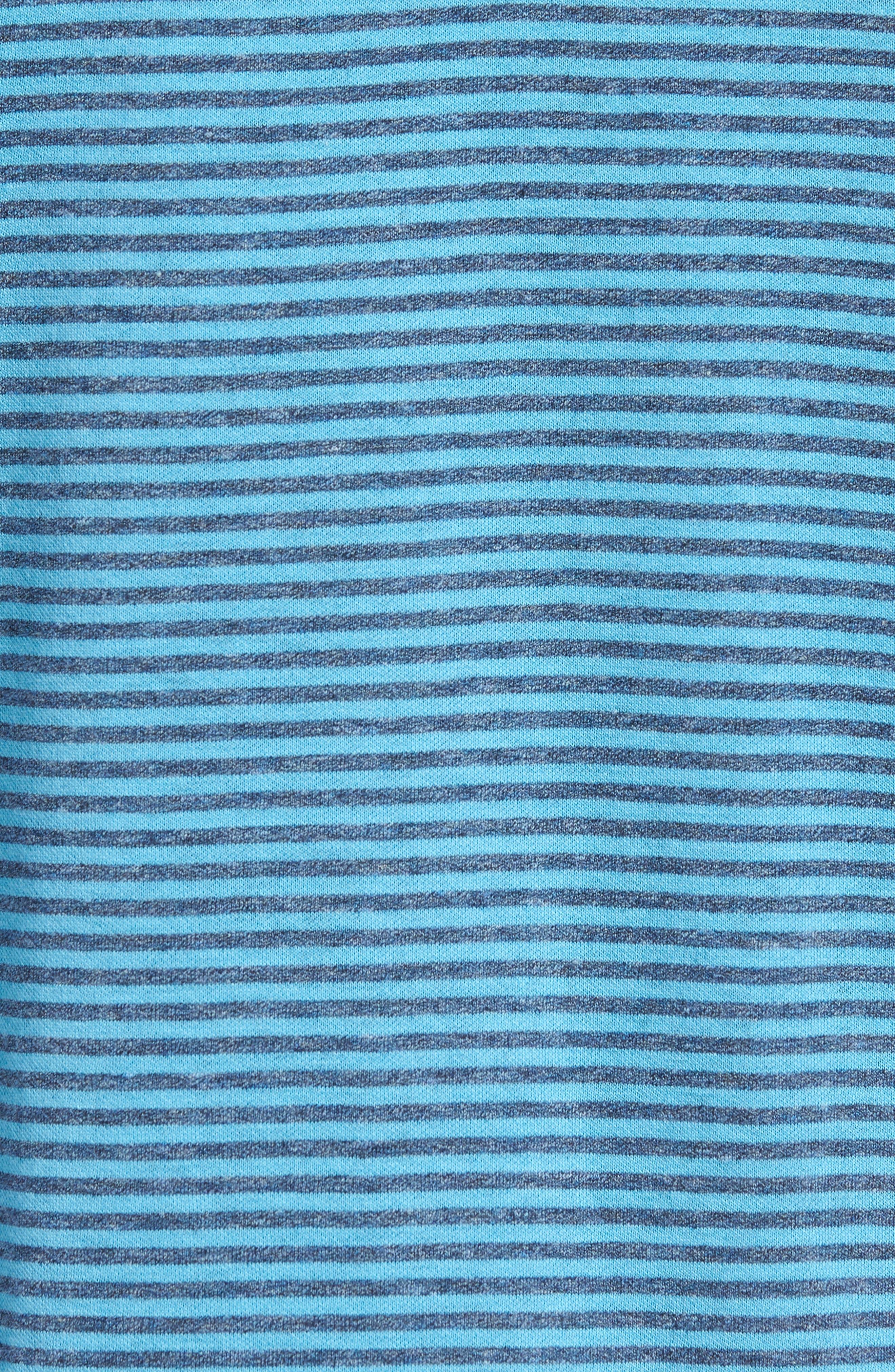Regular Fit Stripe Quarter Zip Pullover,                             Alternate thumbnail 5, color,                             Sky
