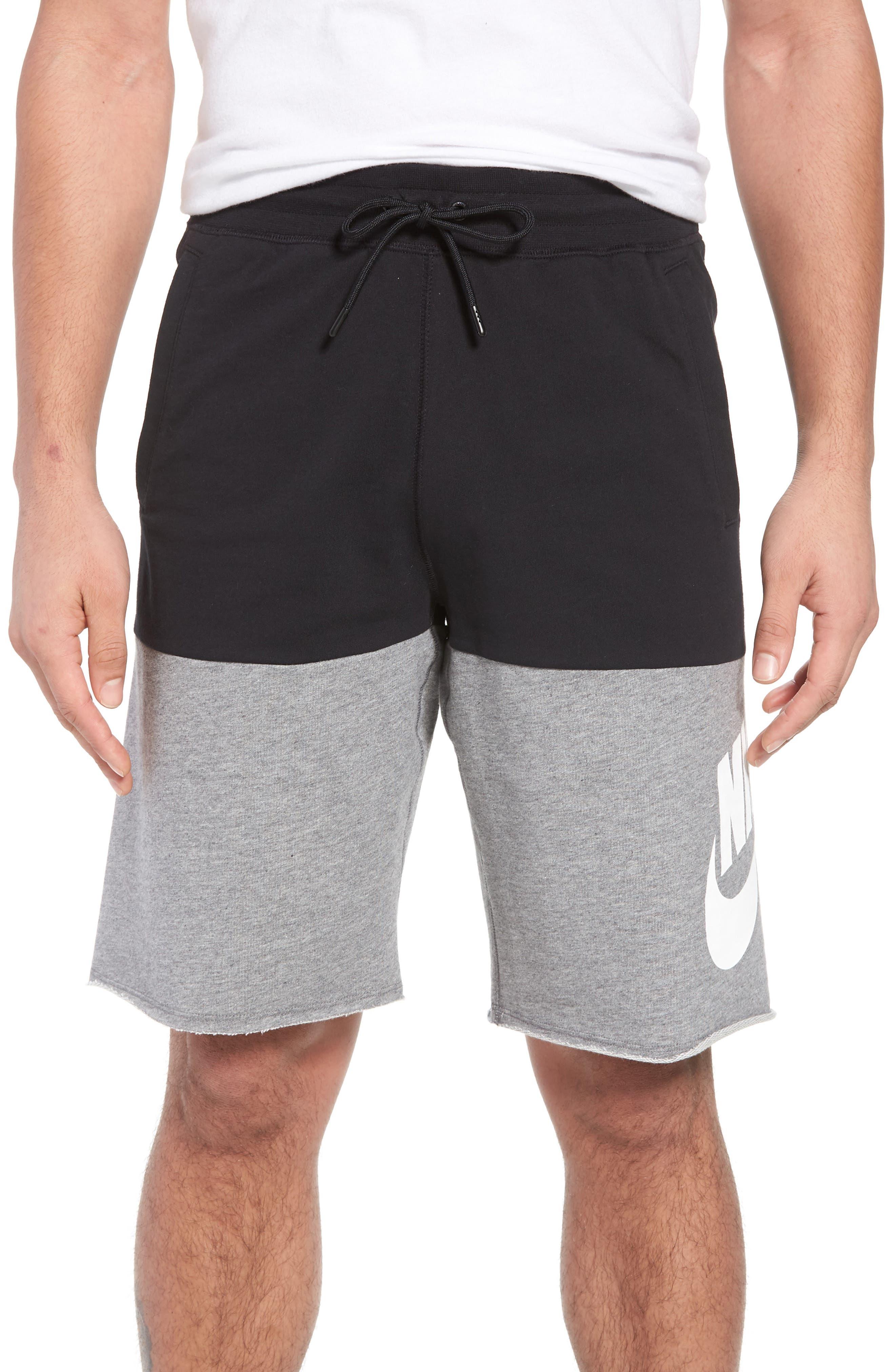 NSW Franchise GX3 Shorts,                             Main thumbnail 1, color,                             Black/ Carbon Heather/ White