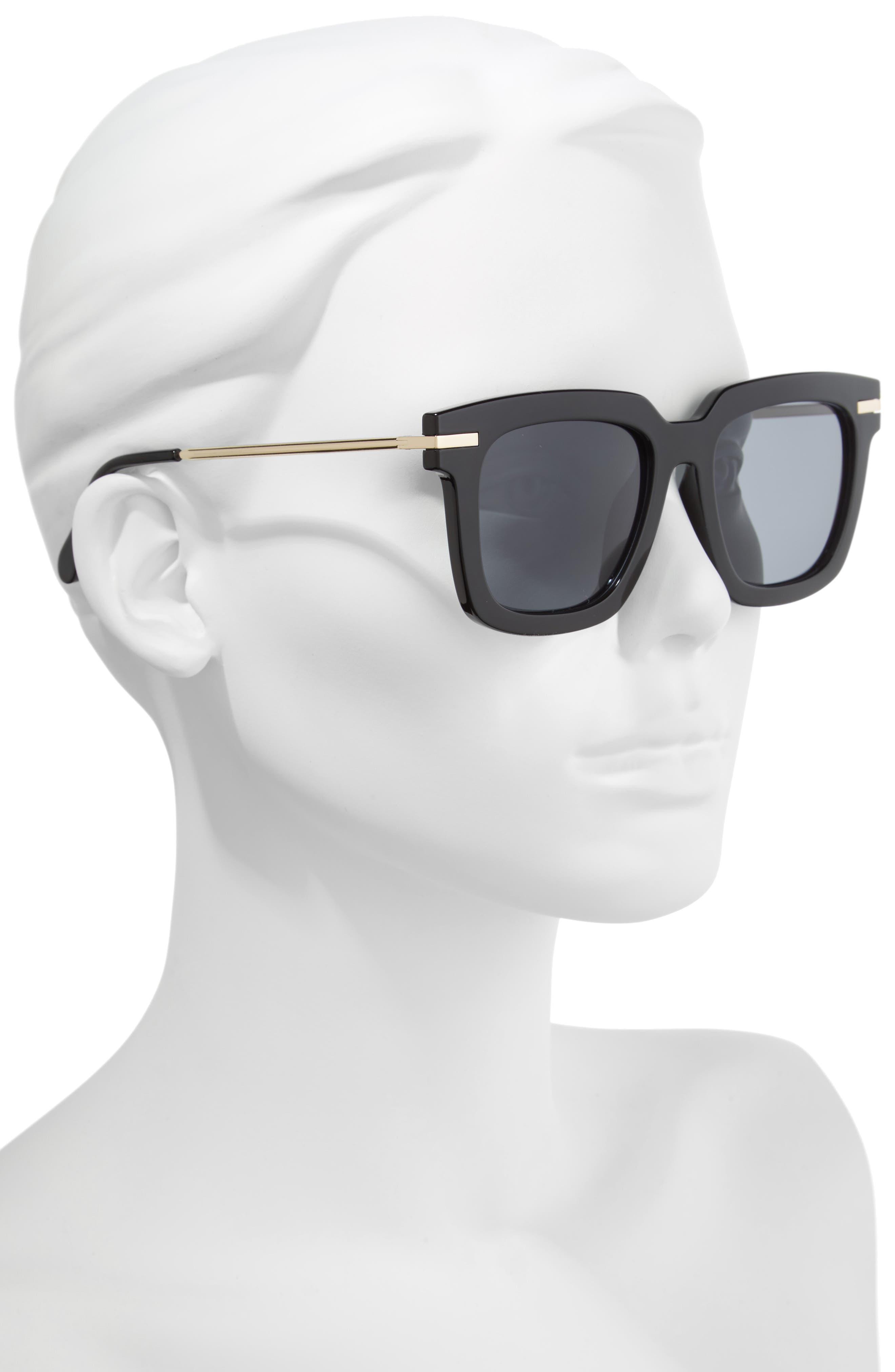 Laguna 51mm Polarized Sunglasses,                             Alternate thumbnail 2, color,                             Black
