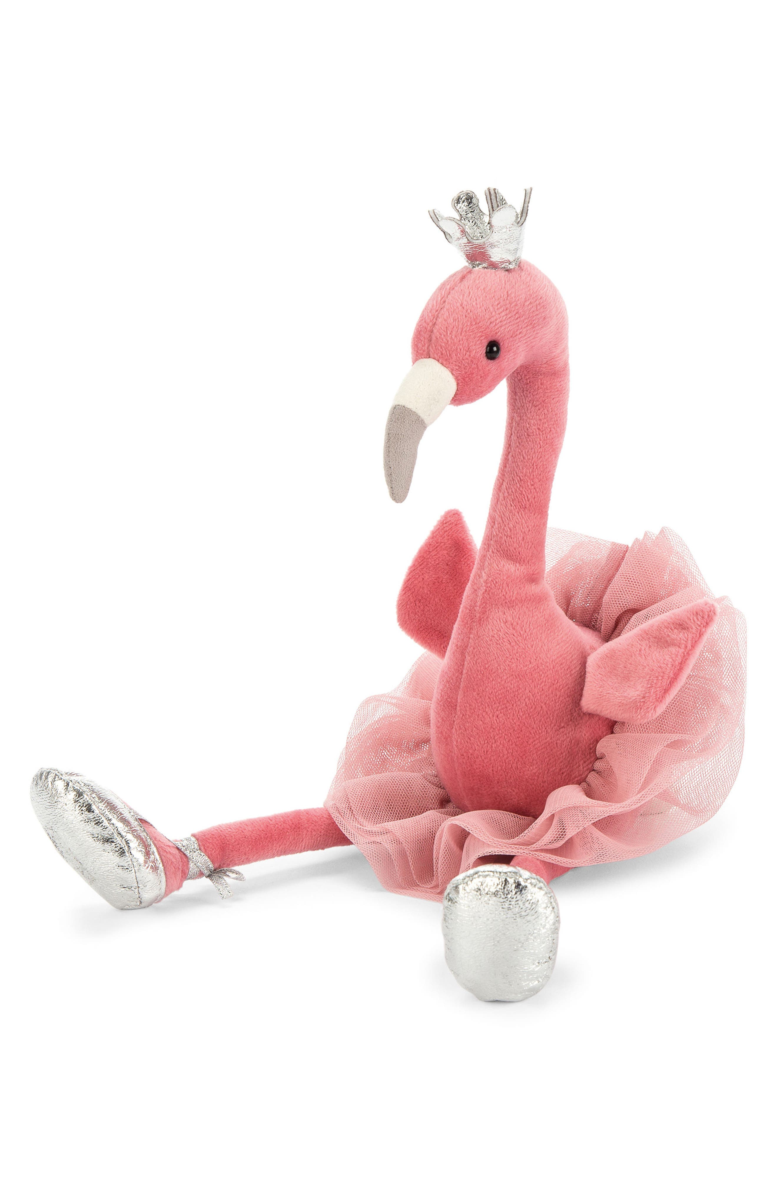 Fancy Flamingo Stuffed Animal,                             Main thumbnail 1, color,                             Pink