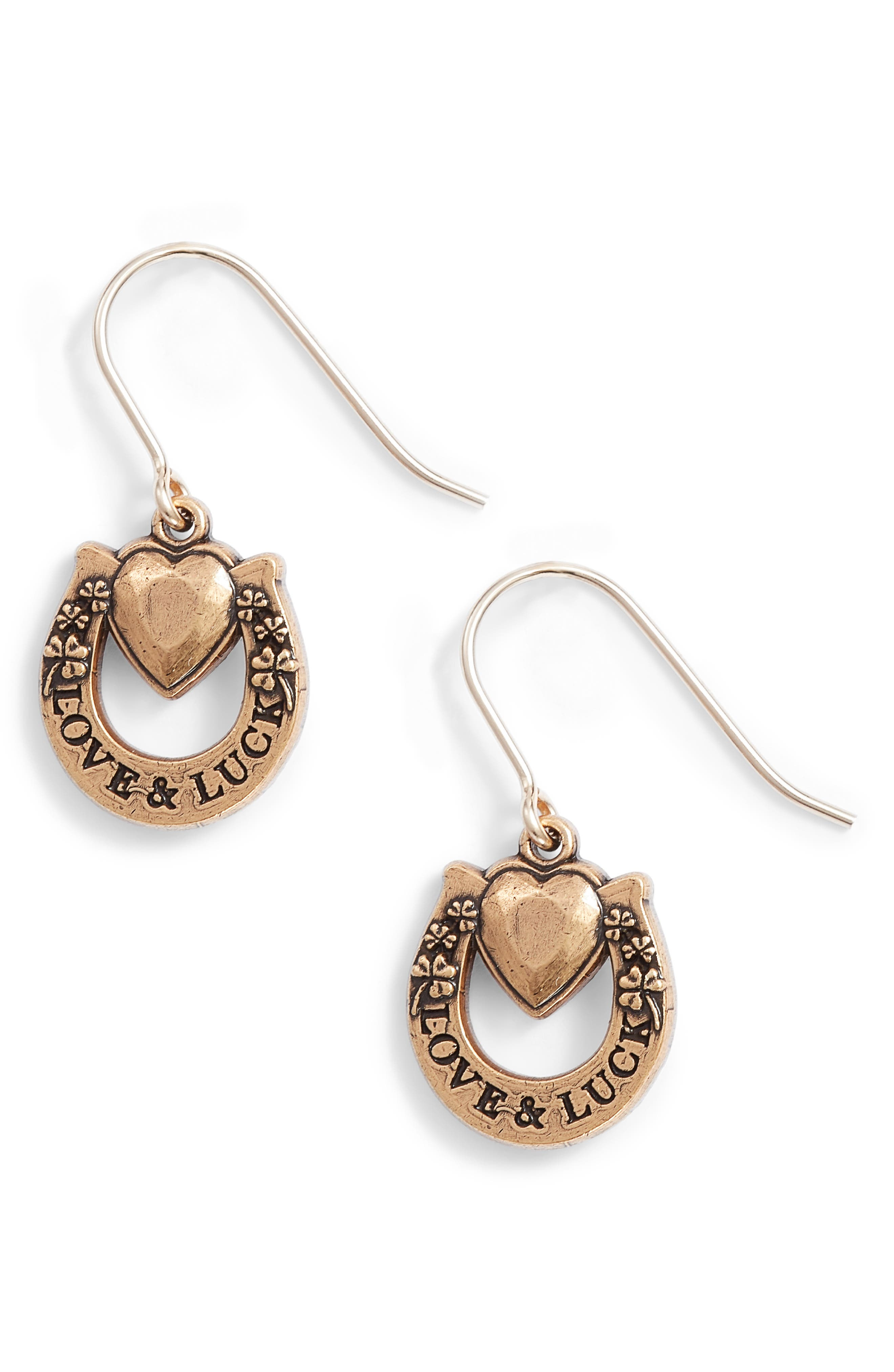 Fortune's Favor Drop Earrings,                         Main,                         color, Gold