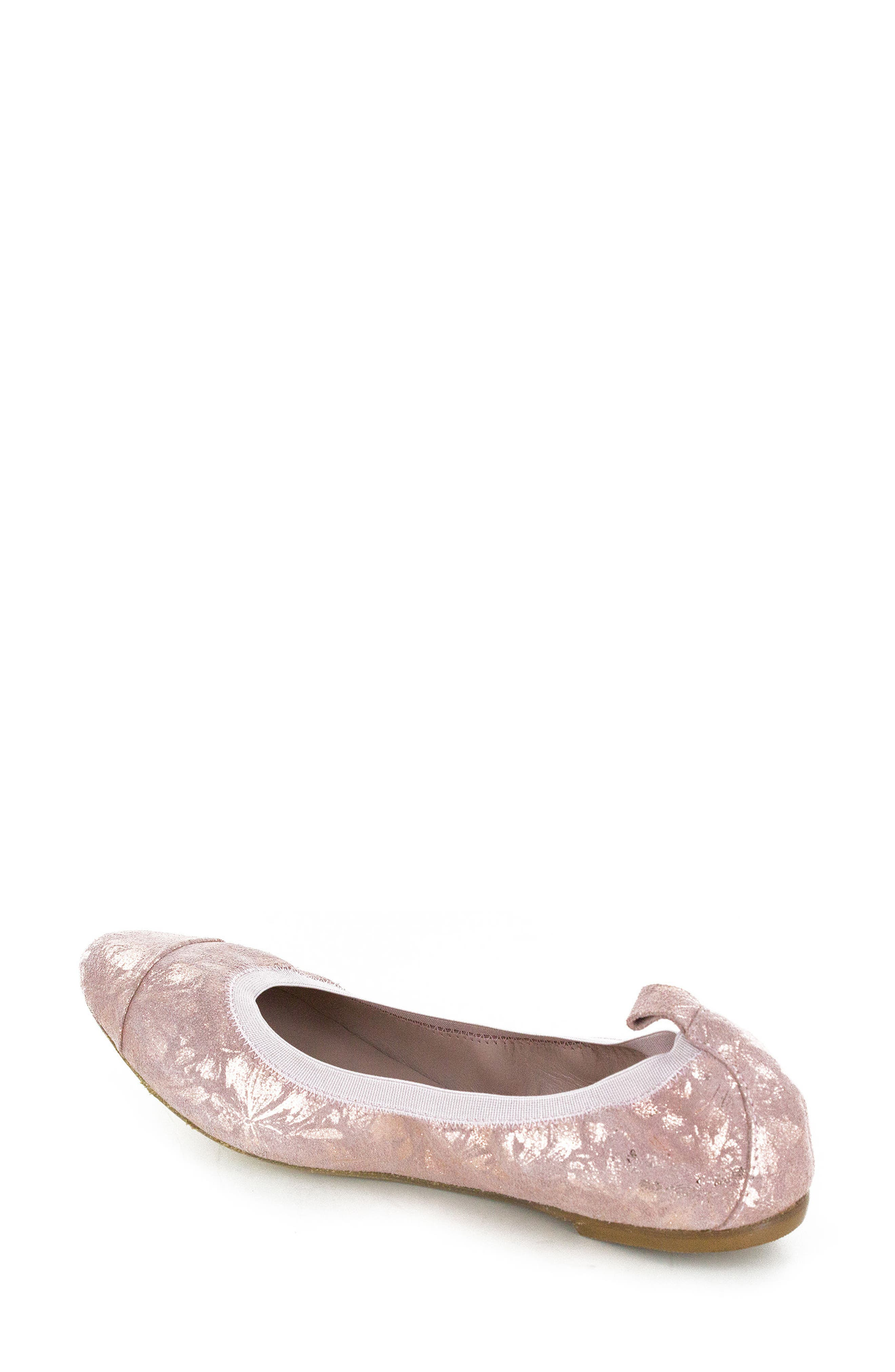 Kara Ballet Flat,                             Alternate thumbnail 2, color,                             Rose Quartz Floral Leather