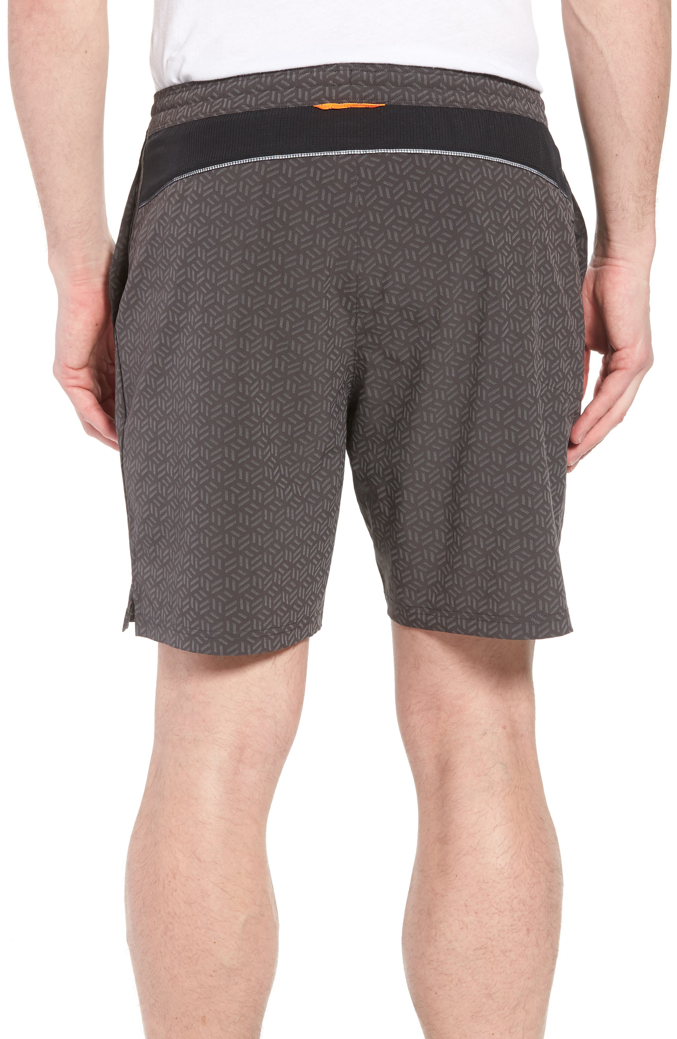Stretch Shorts,                             Alternate thumbnail 2, color,                             Reflective Cube Geo