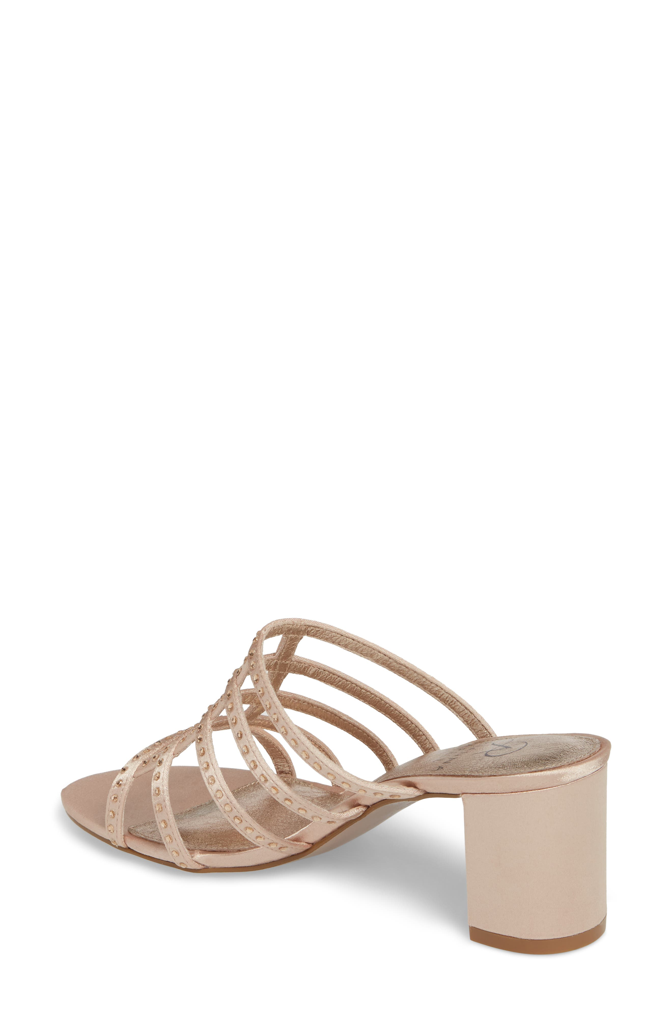 Apollo Block Heel Sandal,                             Alternate thumbnail 2, color,                             Sheer Fabric