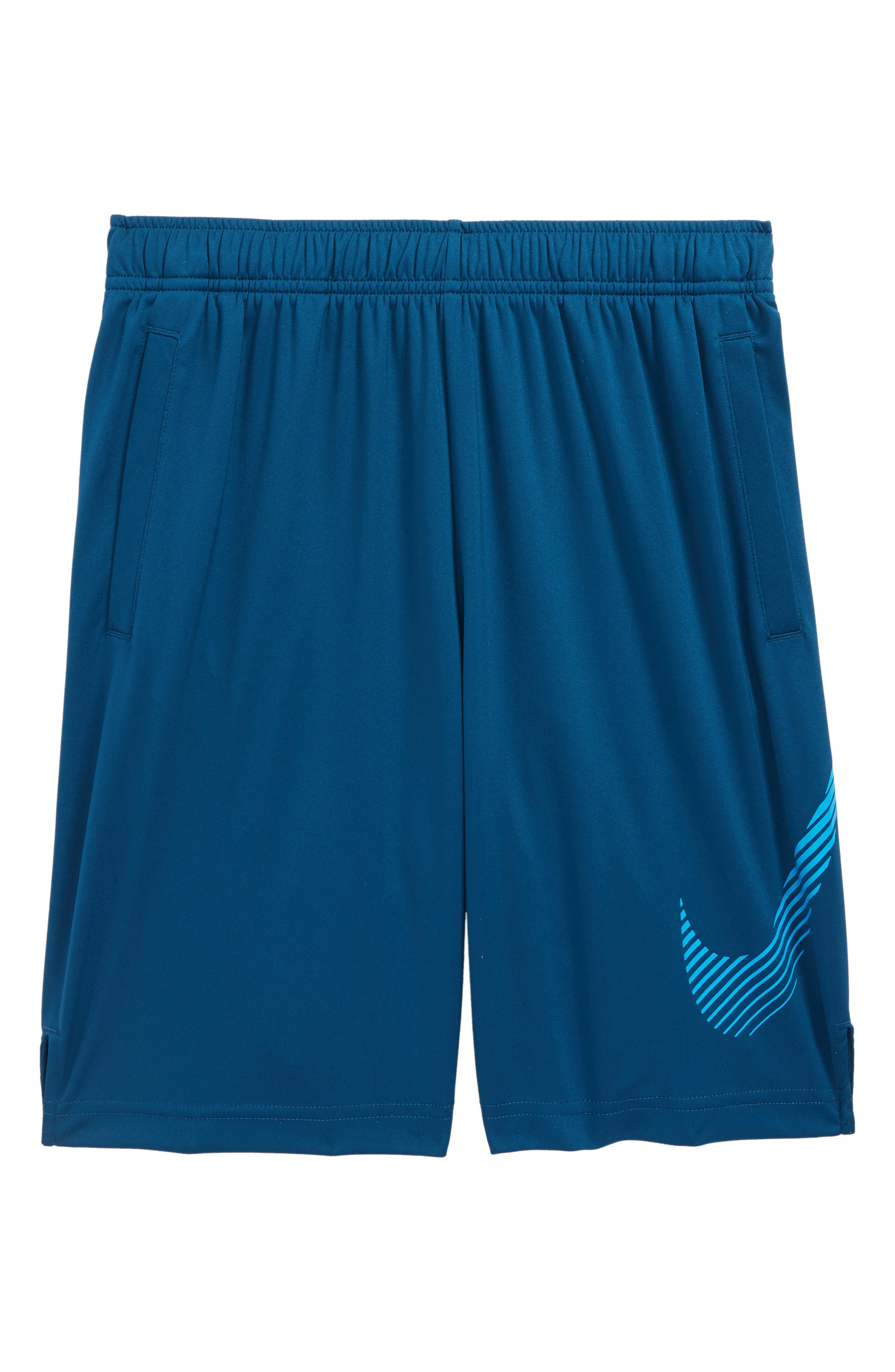 Dry Training Shorts,                         Main,                         color, Blue Force/ Equator Blue