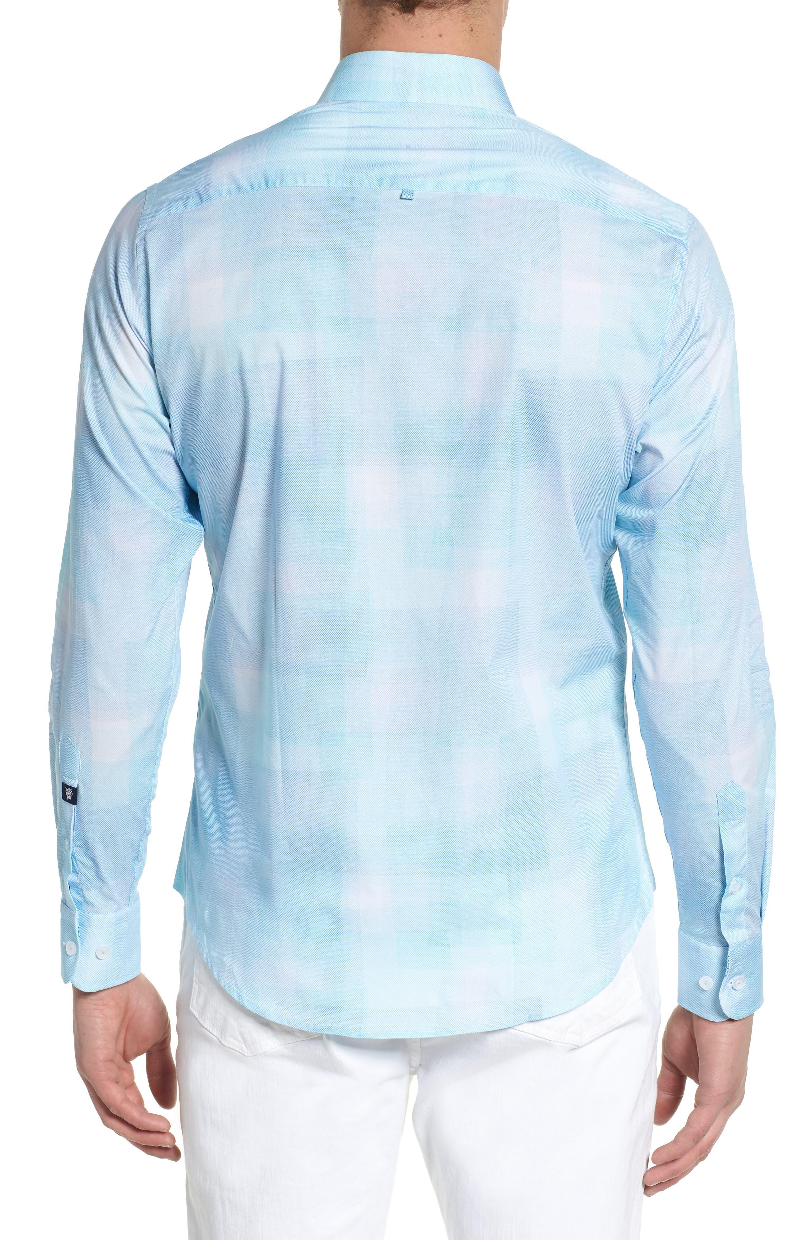 Plaid Sport Shirt,                             Alternate thumbnail 2, color,                             Mint