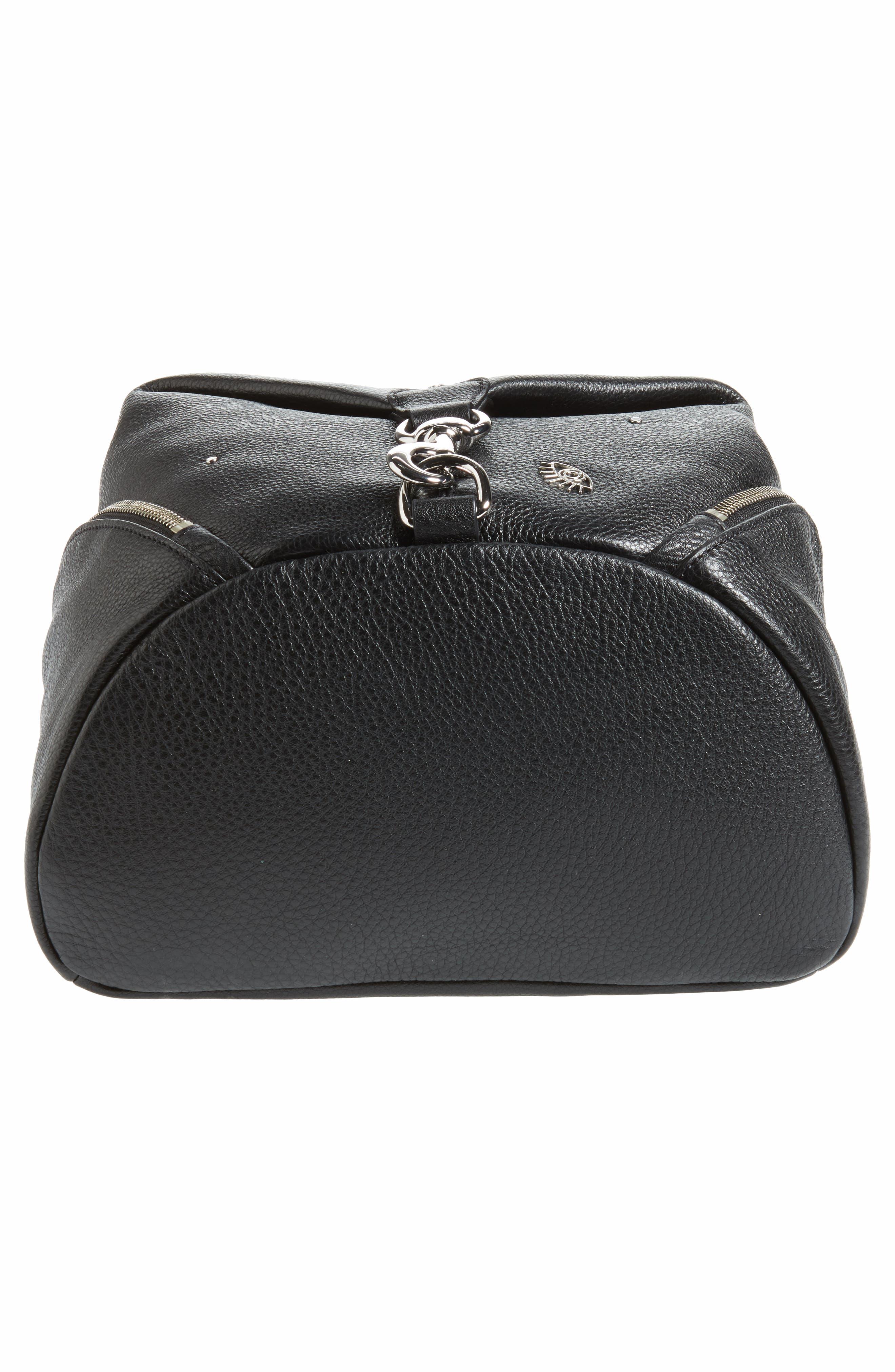 Julian Embellished Leather Backpack,                             Alternate thumbnail 6, color,                             Black