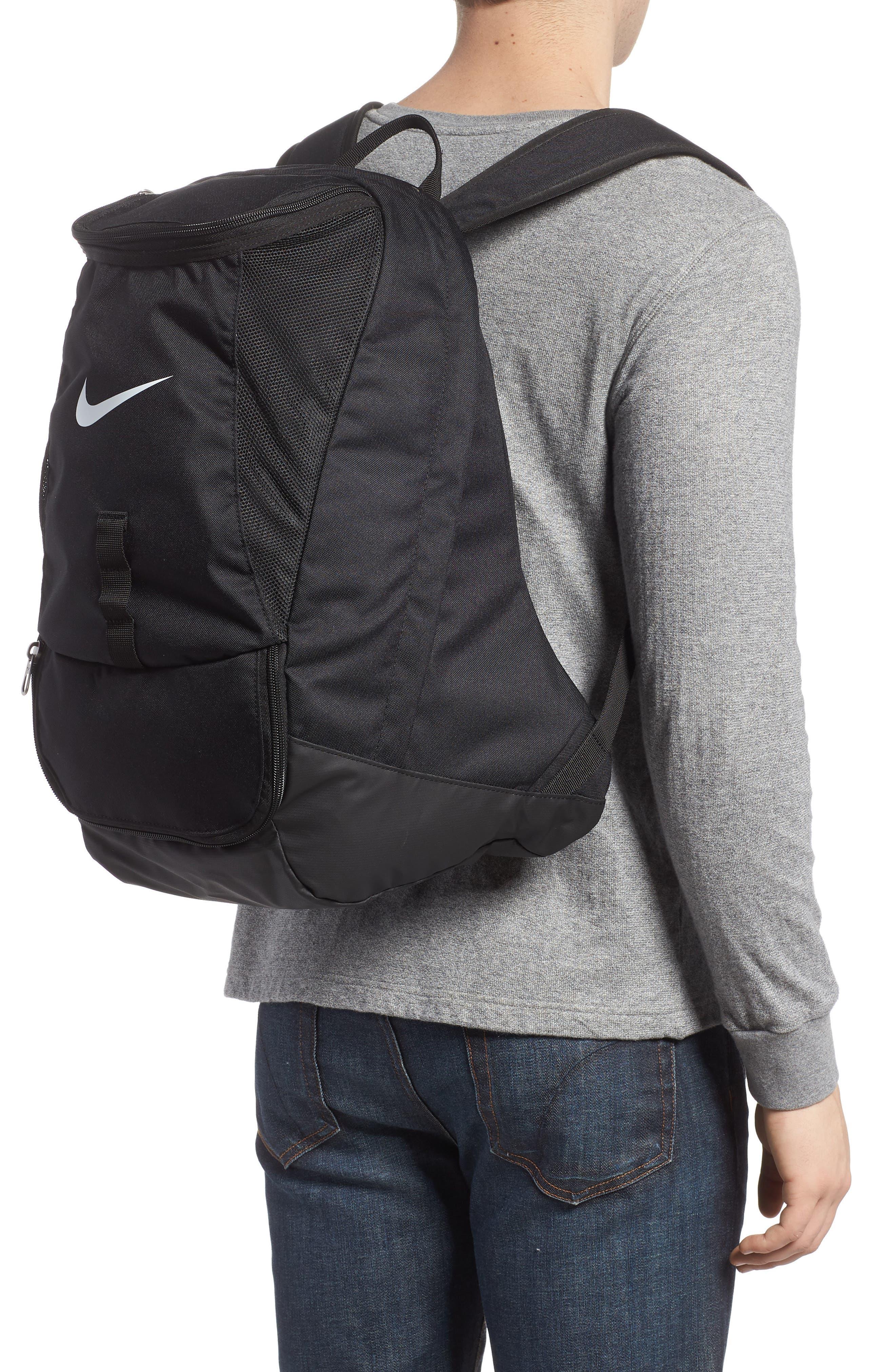Club Team Backpack,                             Alternate thumbnail 2, color,                             Black/ Black/ White