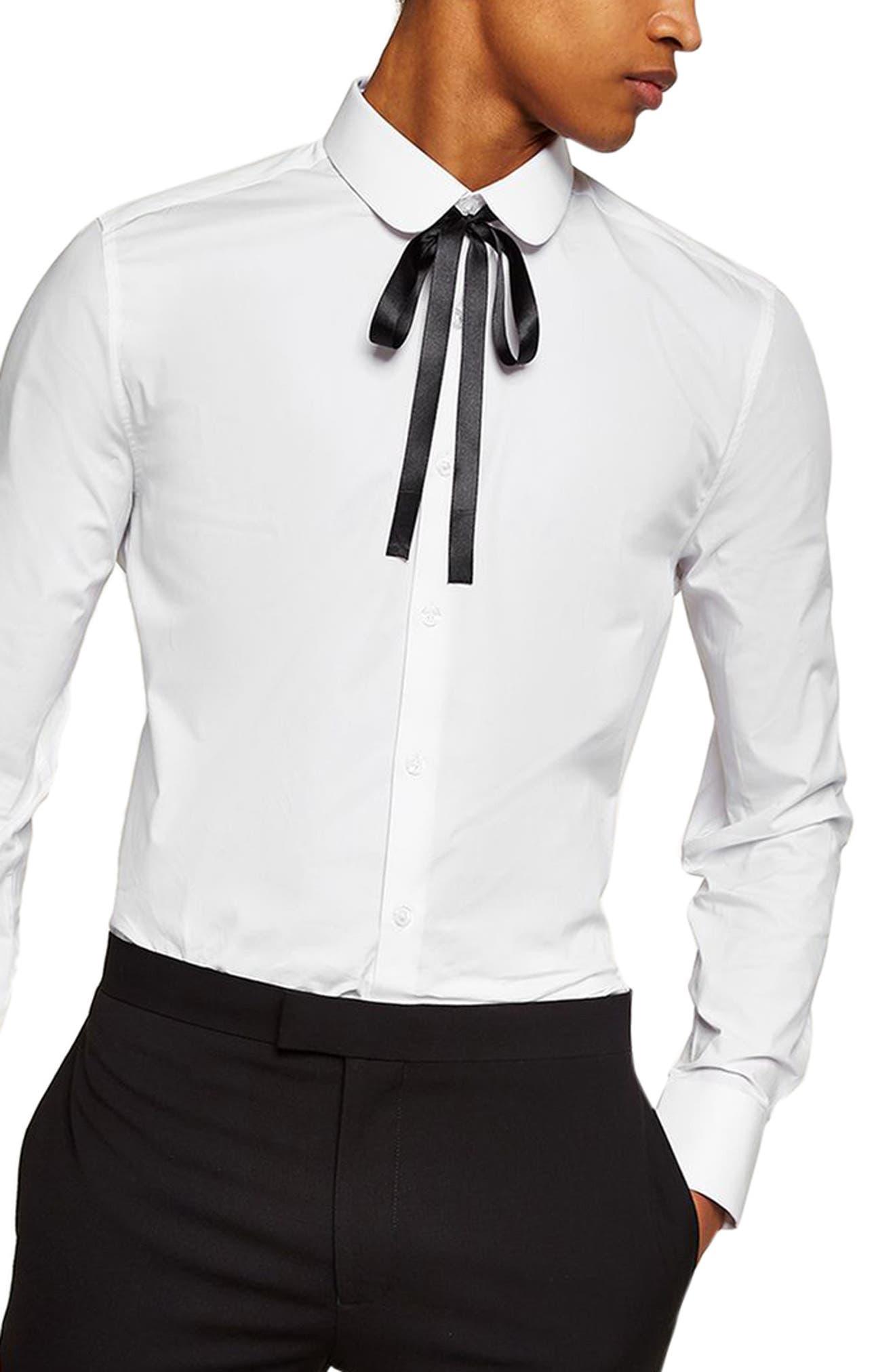 Penny Collar Shirt,                         Main,                         color, White Multi
