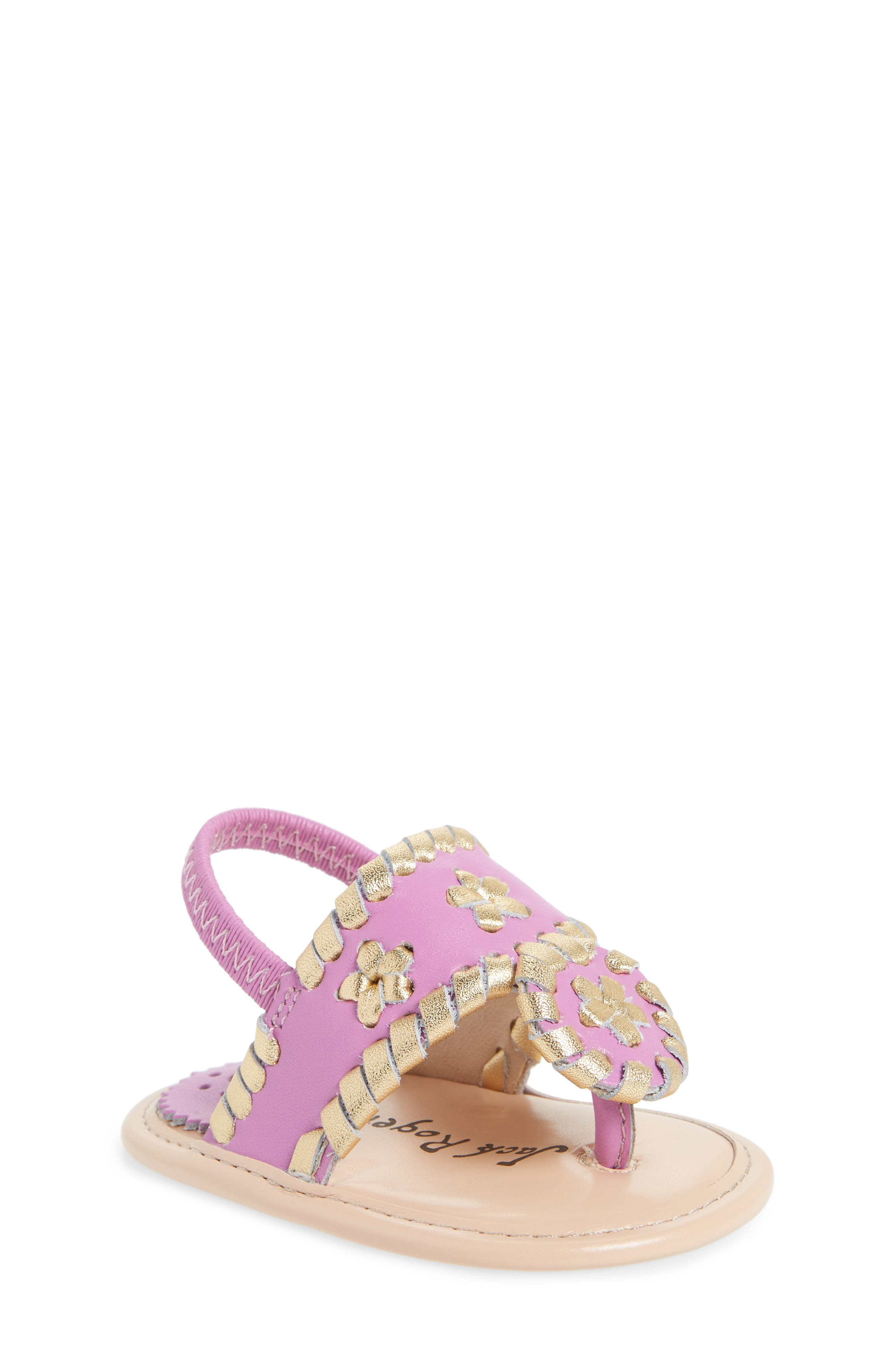 Hollis Sandal,                             Main thumbnail 1, color,                             Lavender Pink/ Gold Leather
