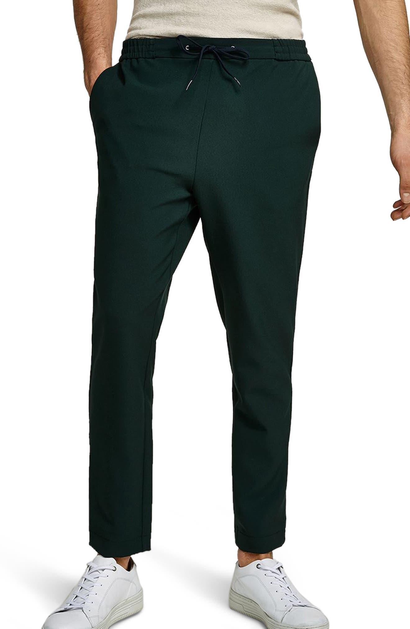 Slim Cropped Track Pants,                             Main thumbnail 1, color,                             Green Multi