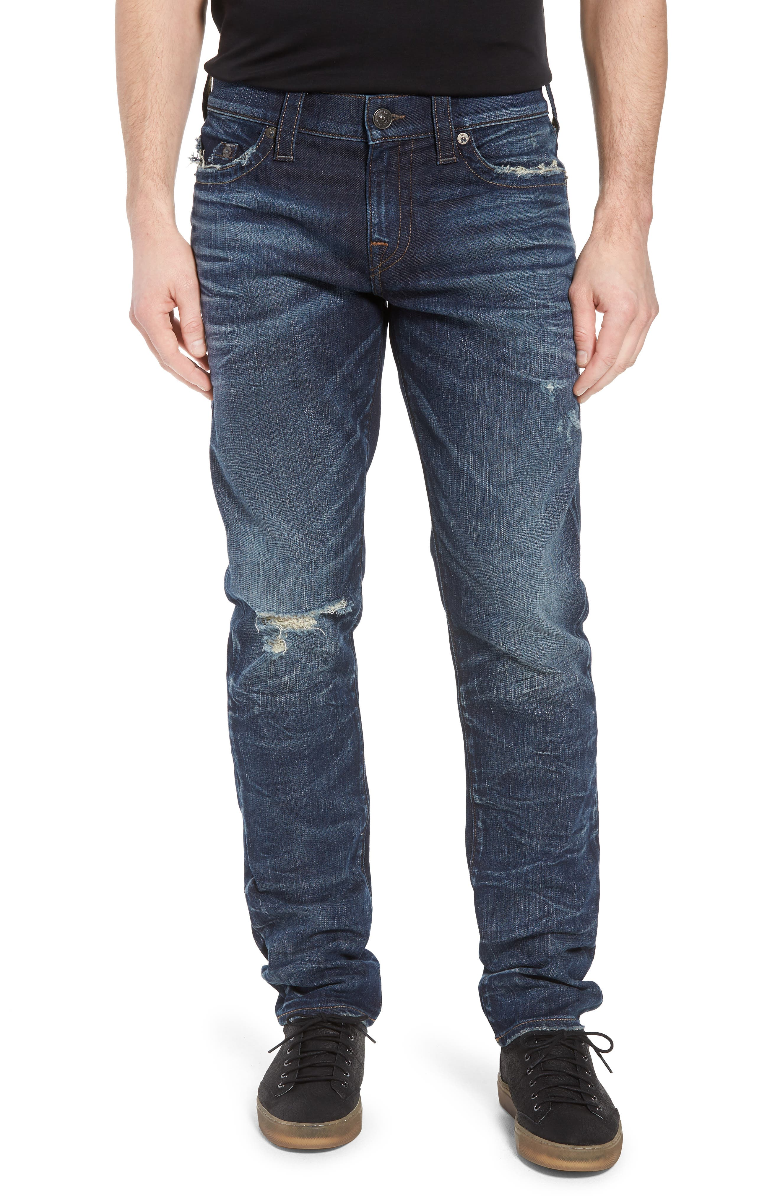 Geno Straight Leg Jeans,                             Main thumbnail 1, color,                             Combat Blue