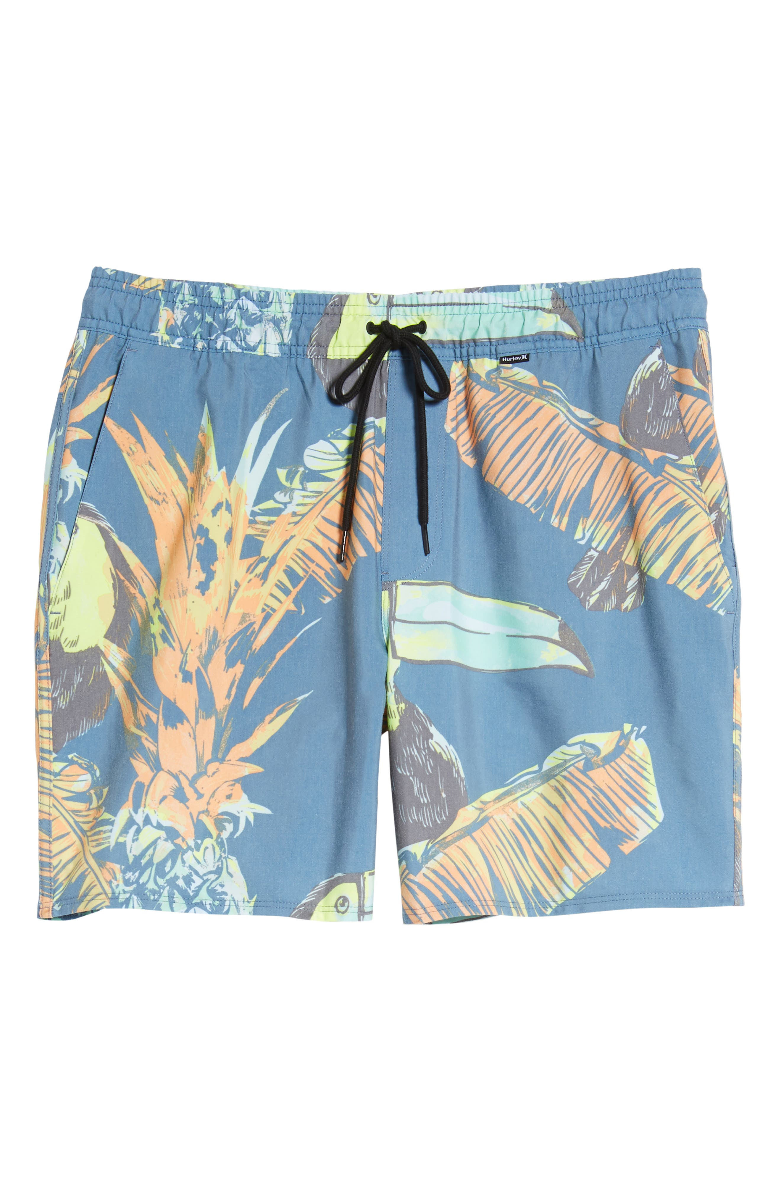 Paradise Volley Board Shorts,                             Alternate thumbnail 6, color,                             Blue Force