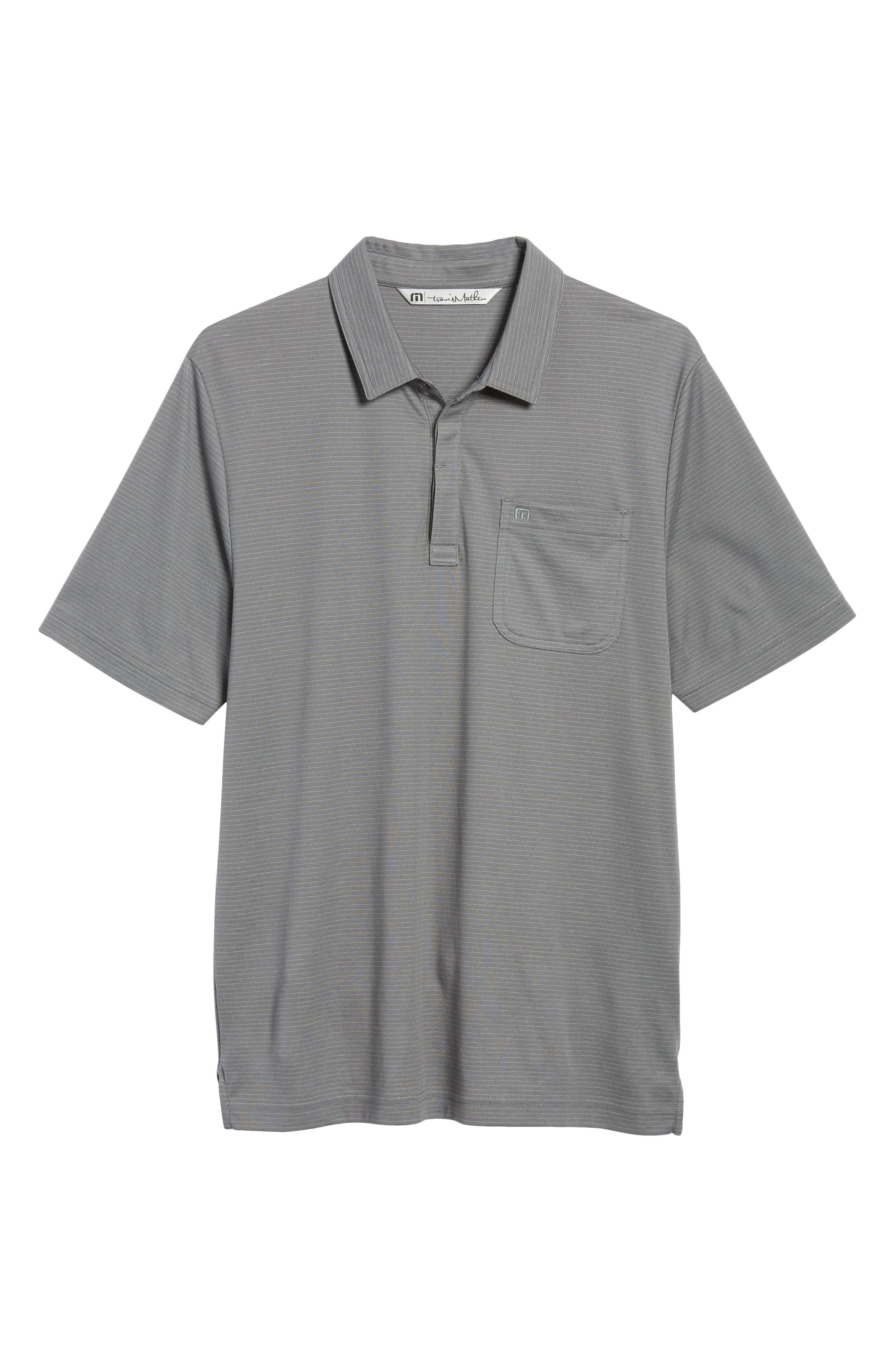 Watty Stripe Cotton Blend Polo,                             Alternate thumbnail 6, color,                             Quiet Shade