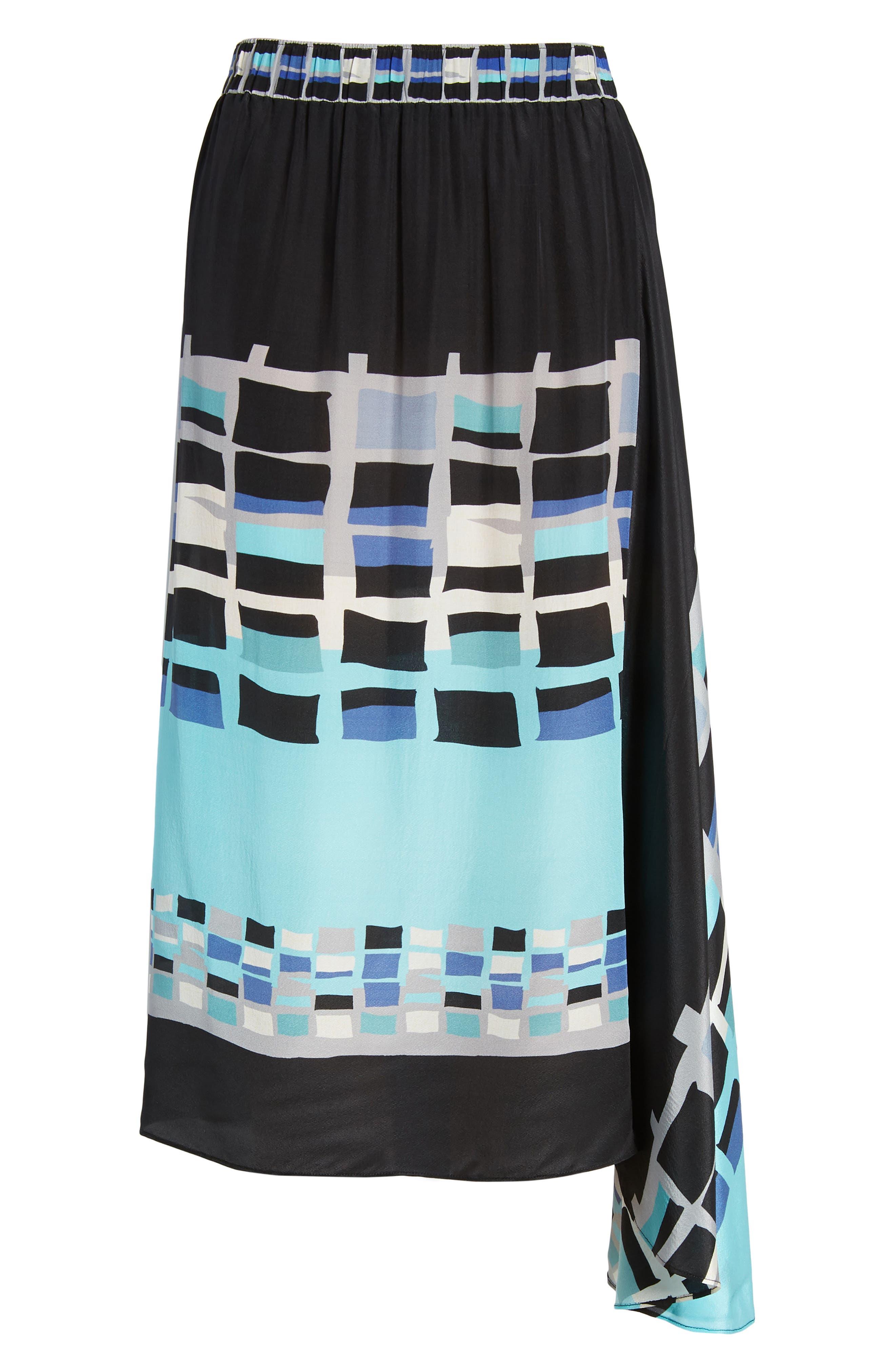 From Above Silk Blend Skirt,                             Alternate thumbnail 5, color,                             Multi
