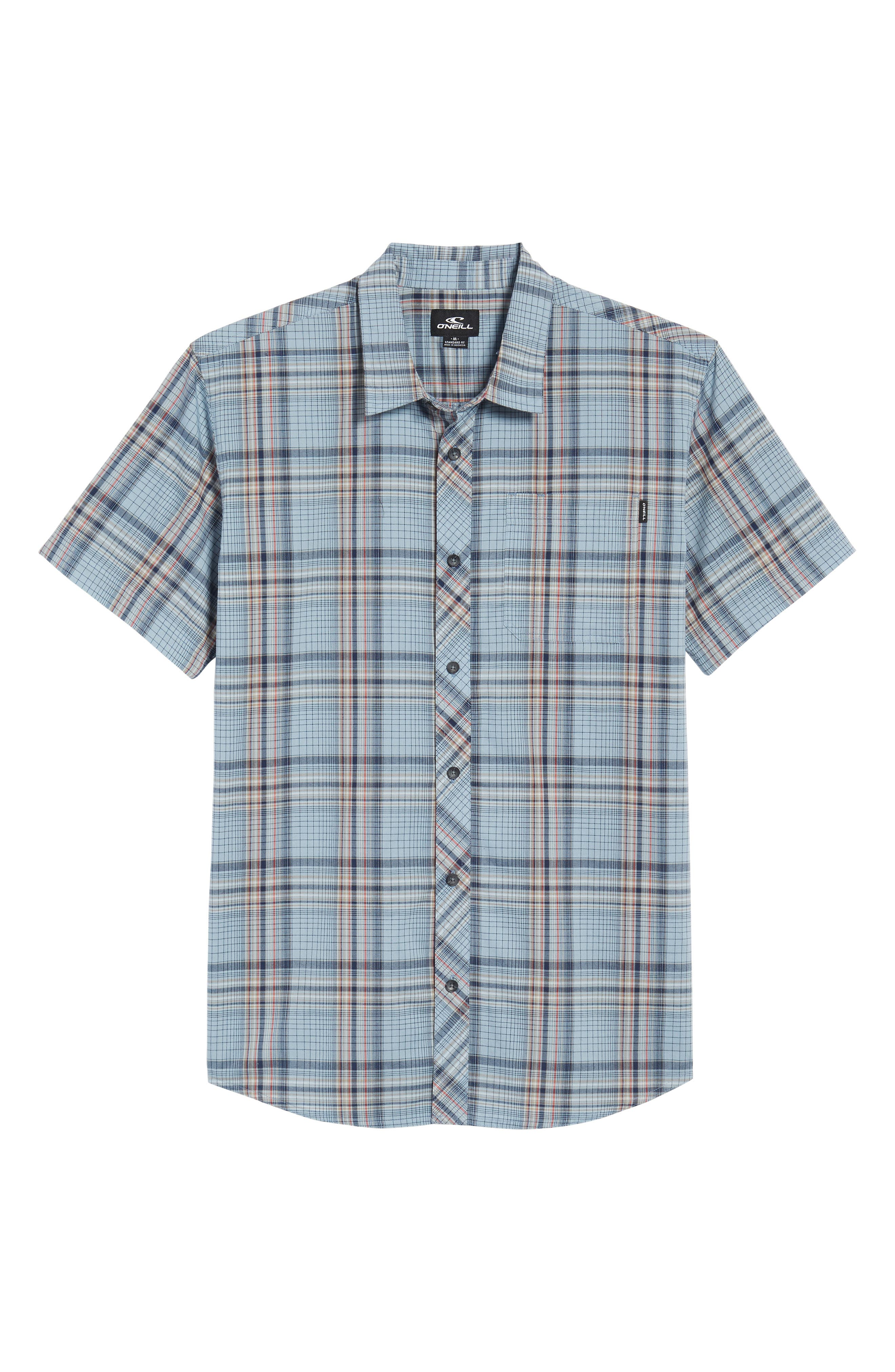 Gentry Short Sleeve Shirt,                             Alternate thumbnail 2, color,                             Asphalt
