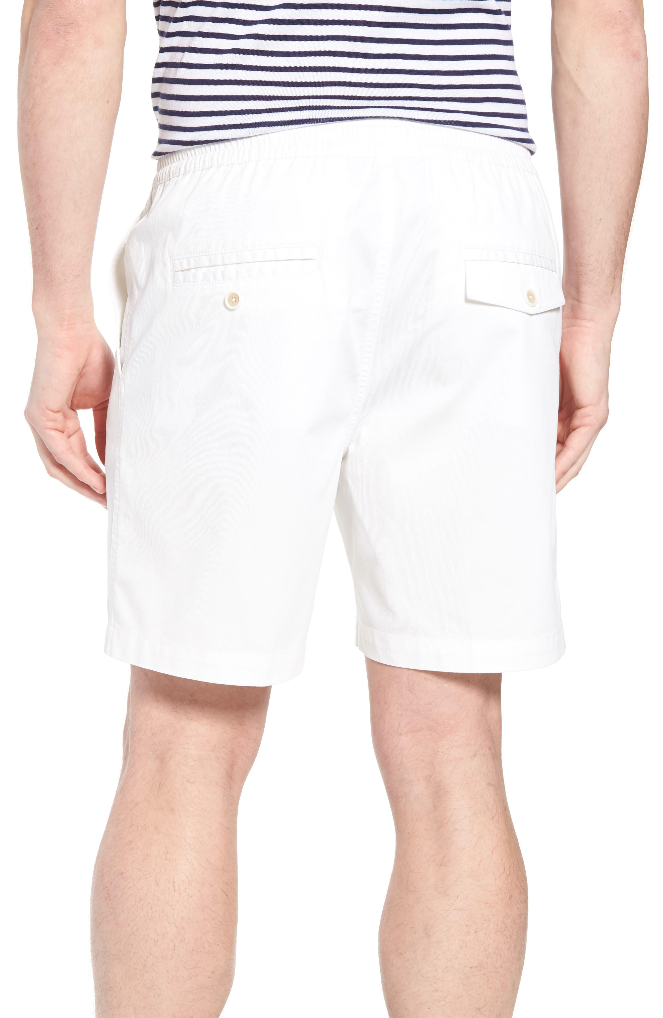Drawstring Bedford Corduroy Shorts,                             Alternate thumbnail 2, color,                             White