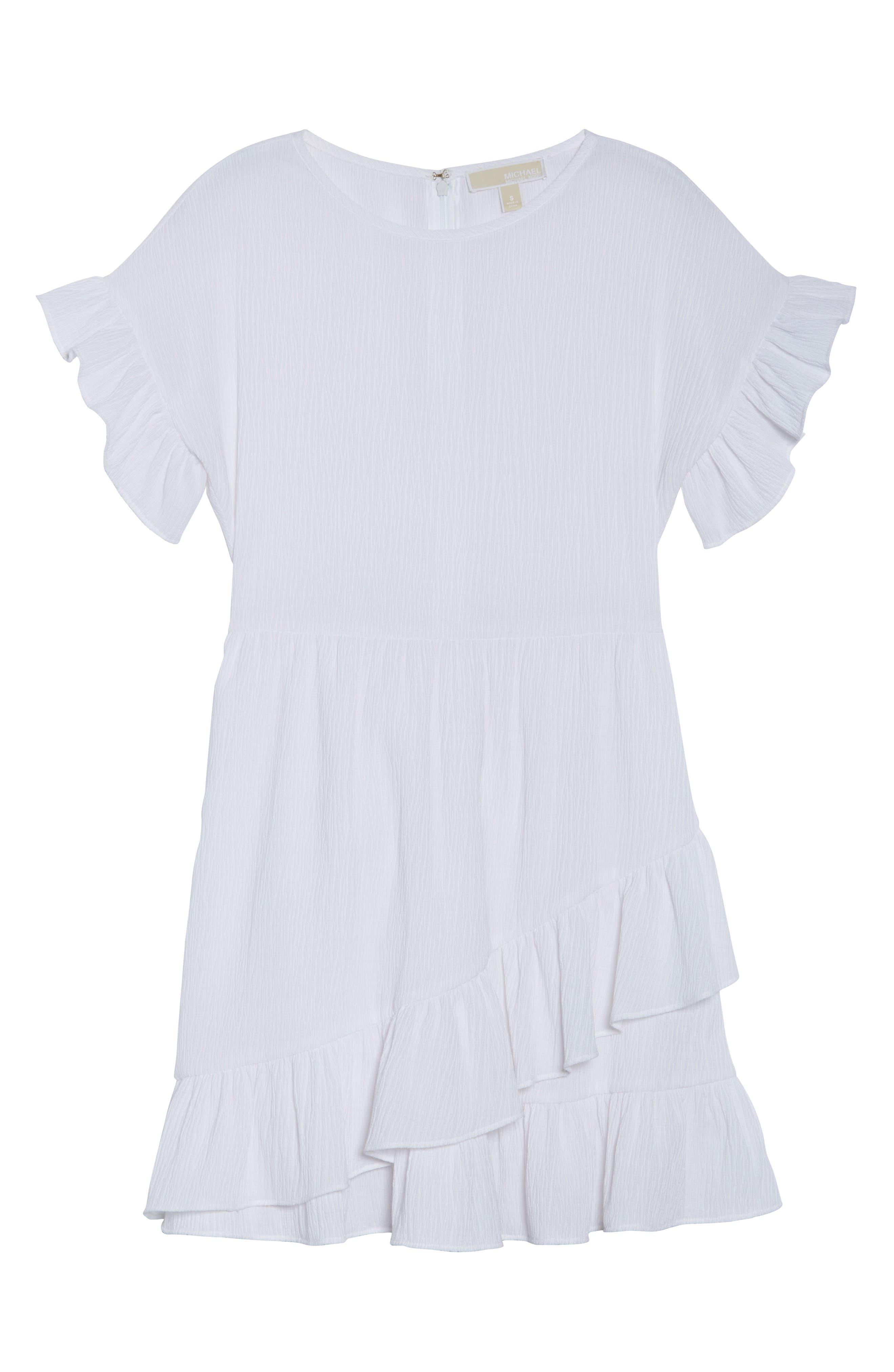 Ruffle Dress,                             Alternate thumbnail 7, color,                             White