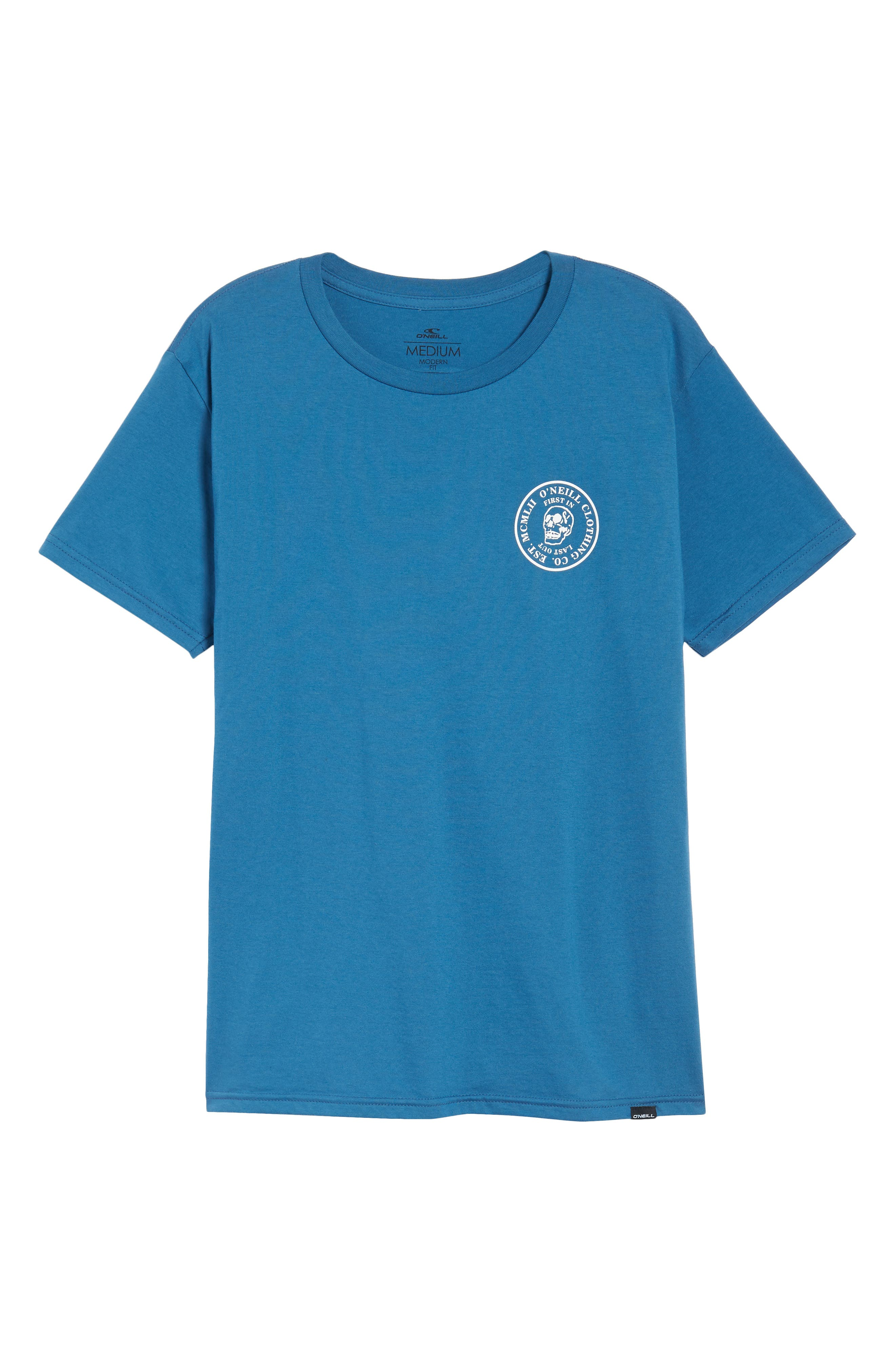 Skully Graphic T-Shirt,                             Alternate thumbnail 6, color,                             Air Force Blue