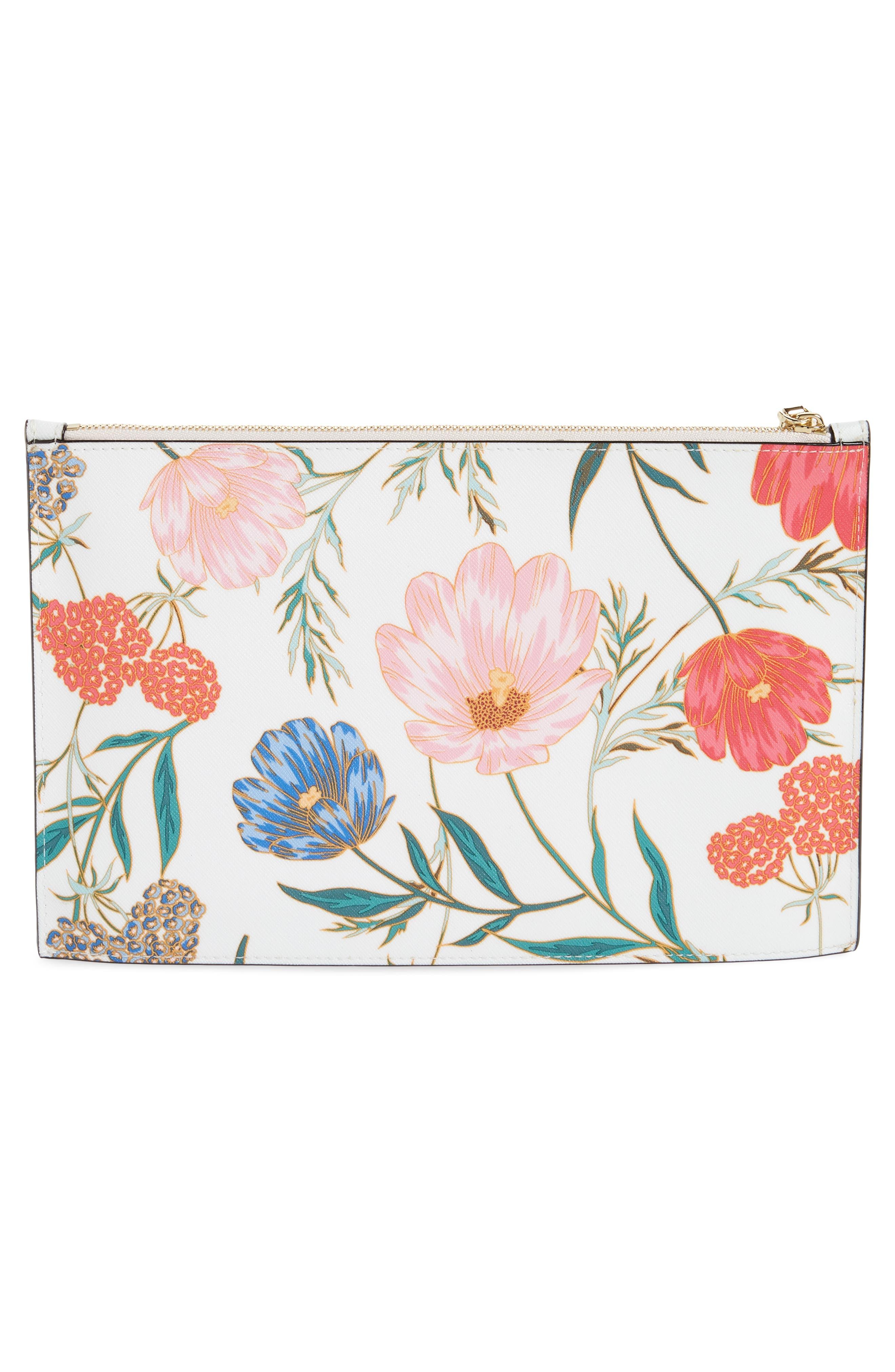 cameron street – blossom lilia leather clutch,                             Alternate thumbnail 3, color,                             Cream
