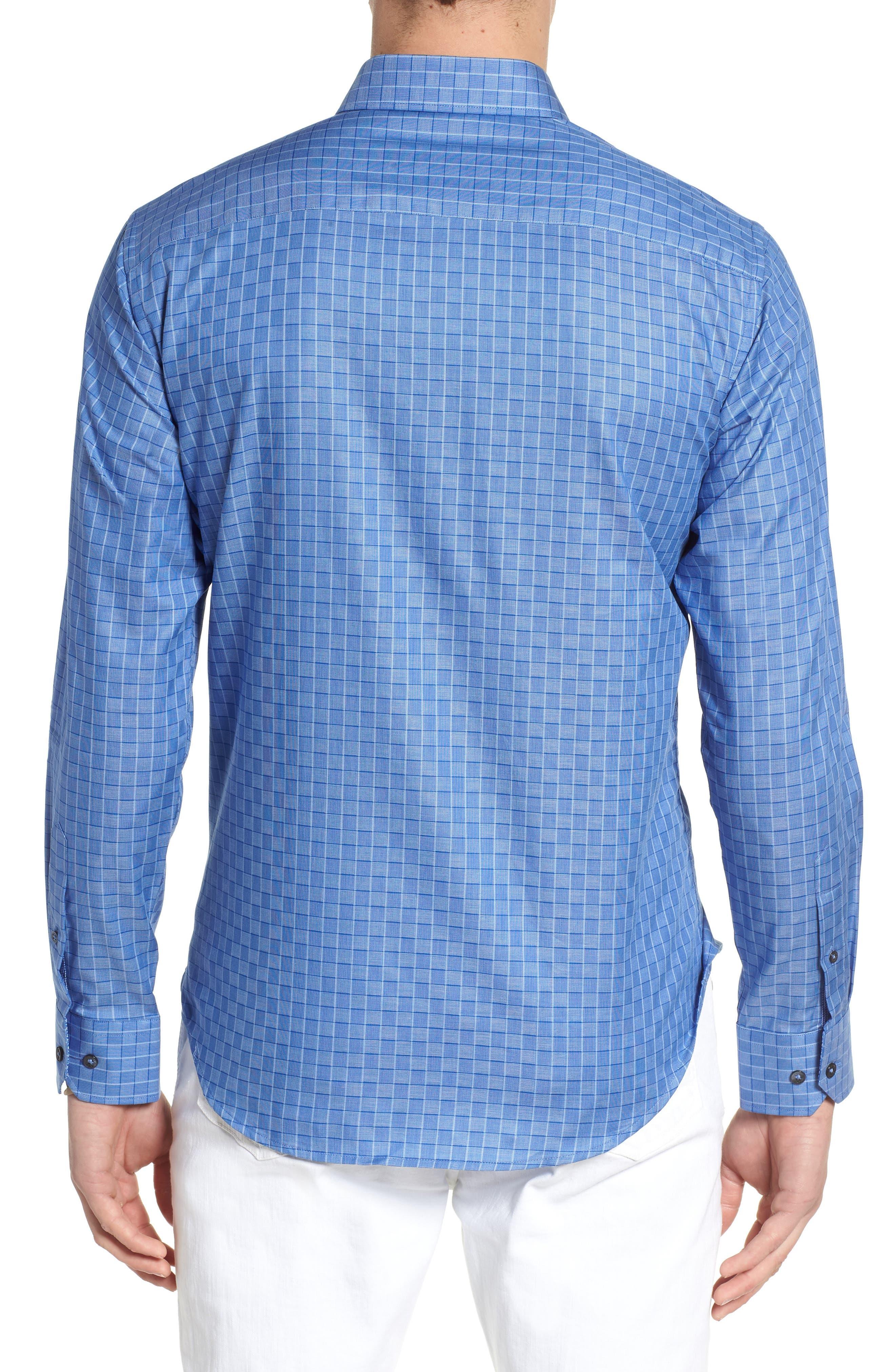 Woven Sport Shirt,                             Alternate thumbnail 2, color,                             Classic Blue