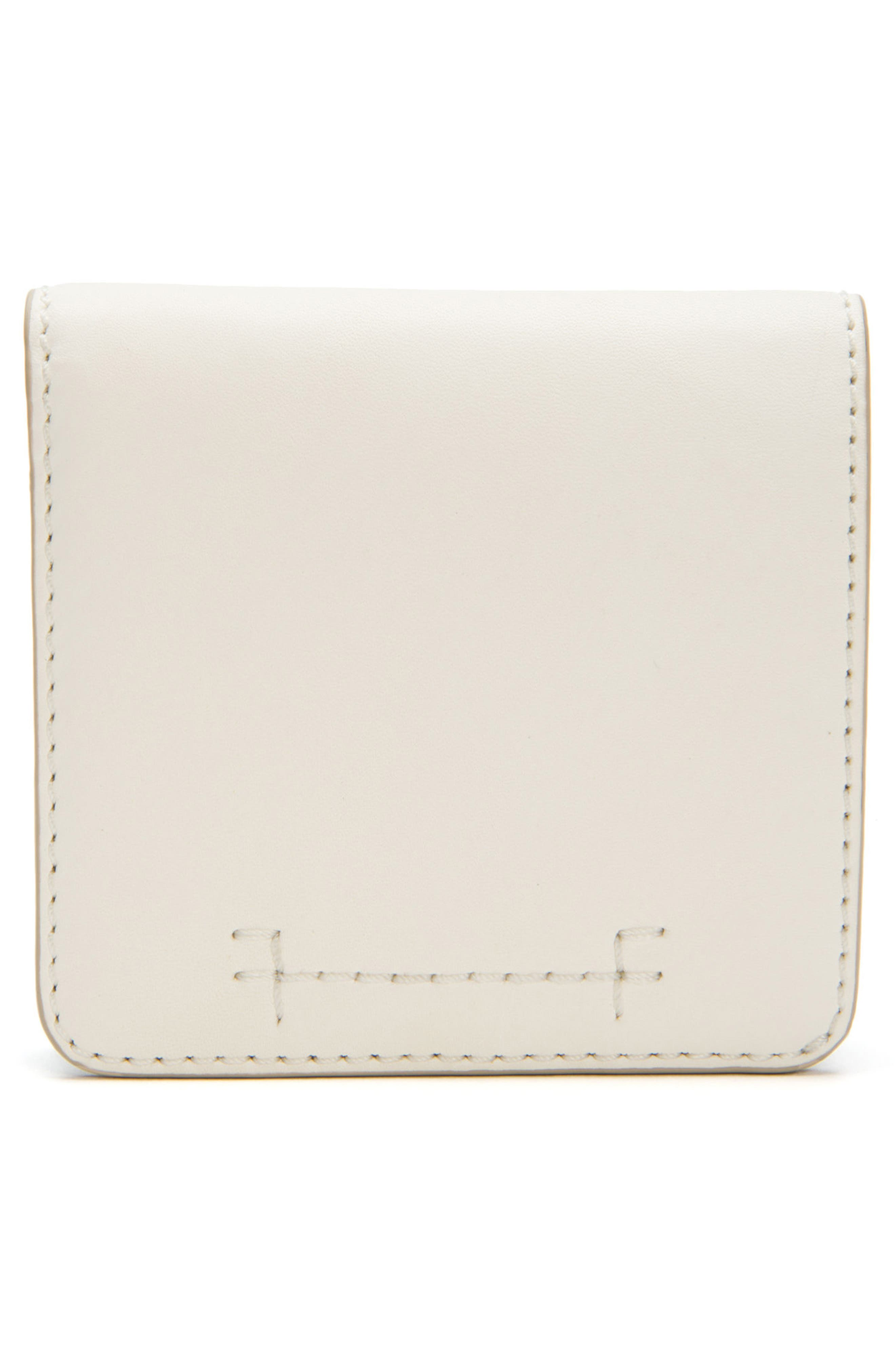 Carson Small Leather Wallet,                             Main thumbnail 1, color,                             White