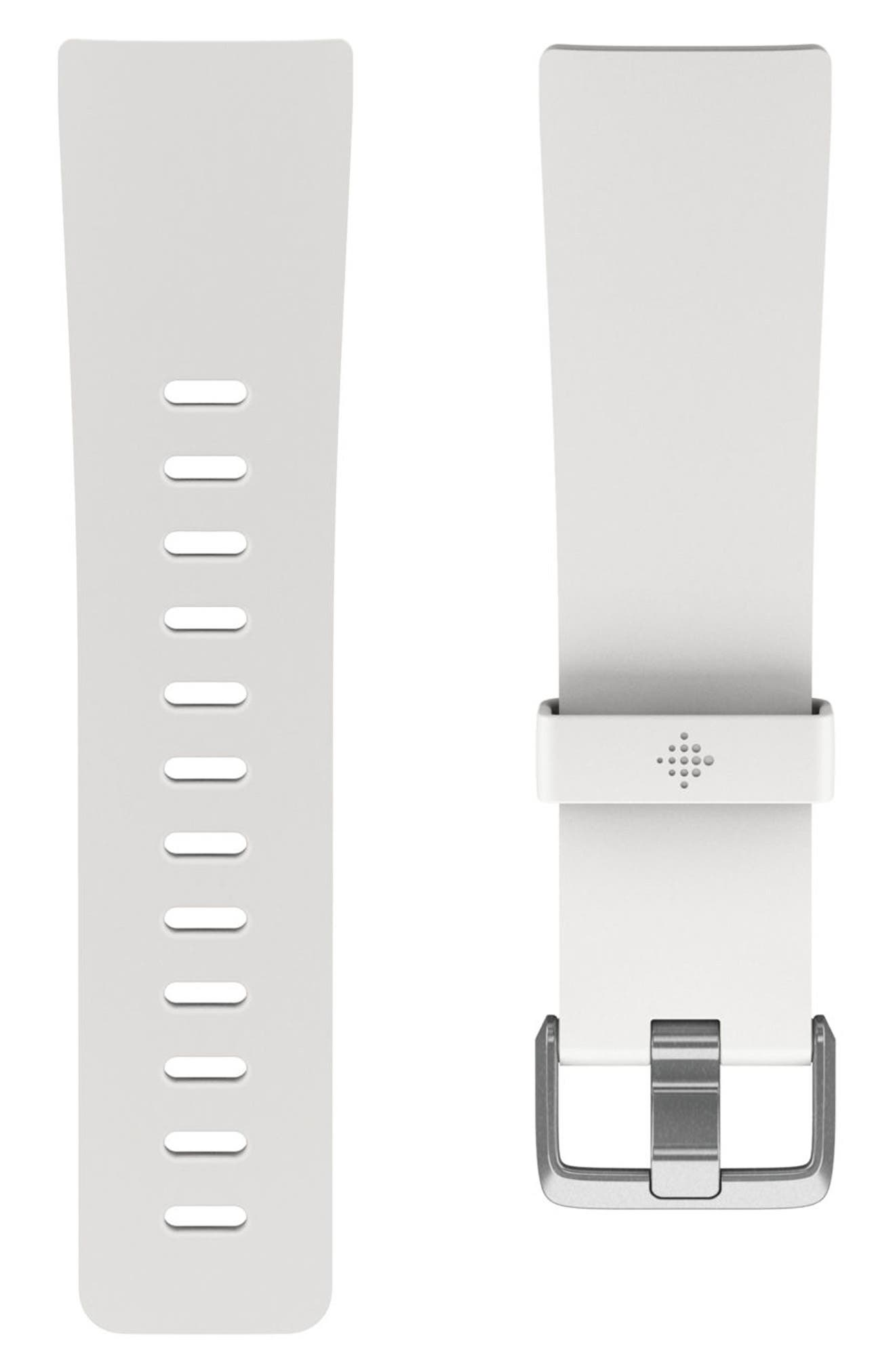 Versa Accessory Watch Band,                             Main thumbnail 1, color,                             White