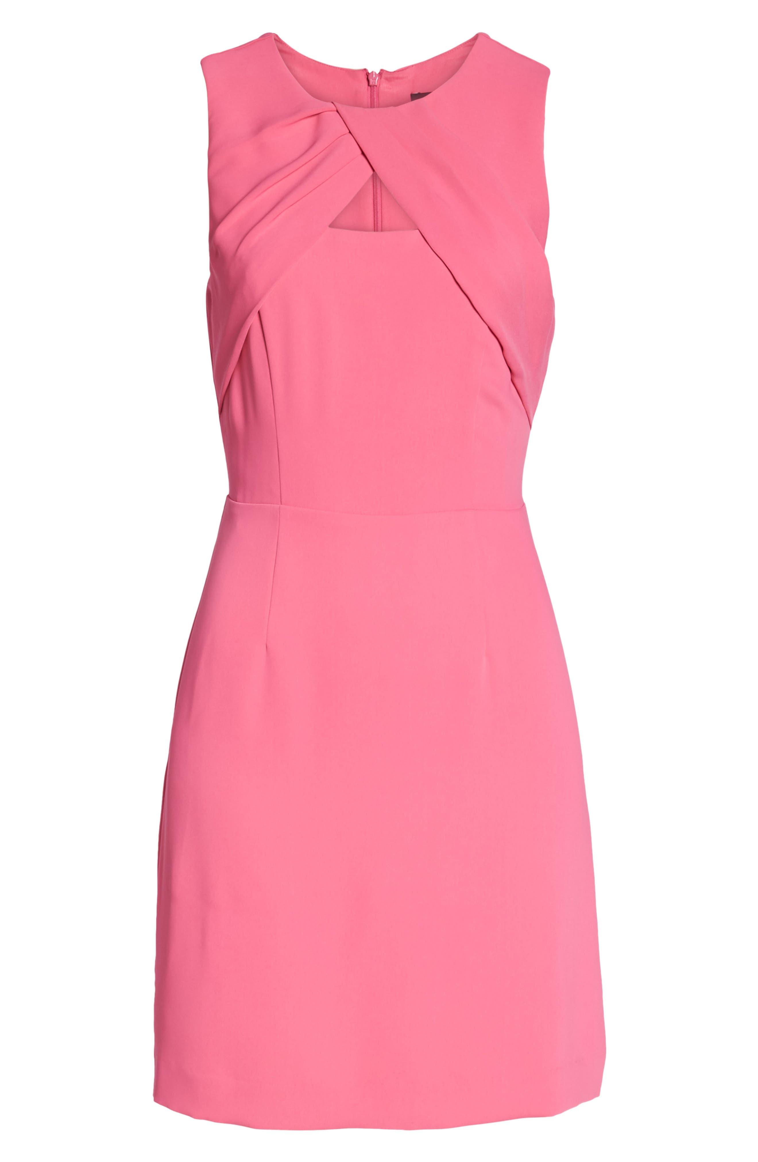 Nera Sheath Dress,                             Alternate thumbnail 6, color,                             Peony