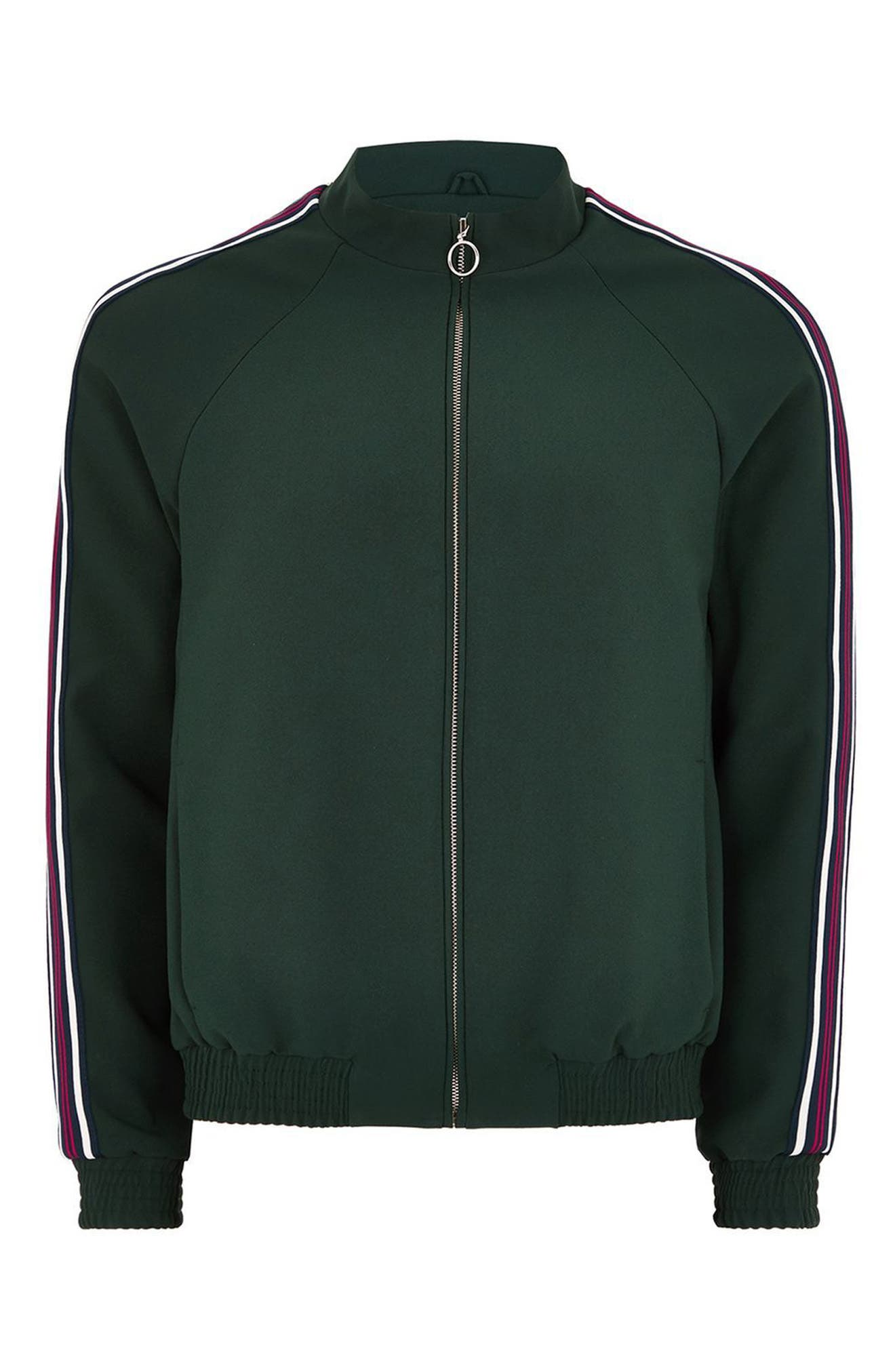 Track Jacket,                             Main thumbnail 1, color,                             Green Multi