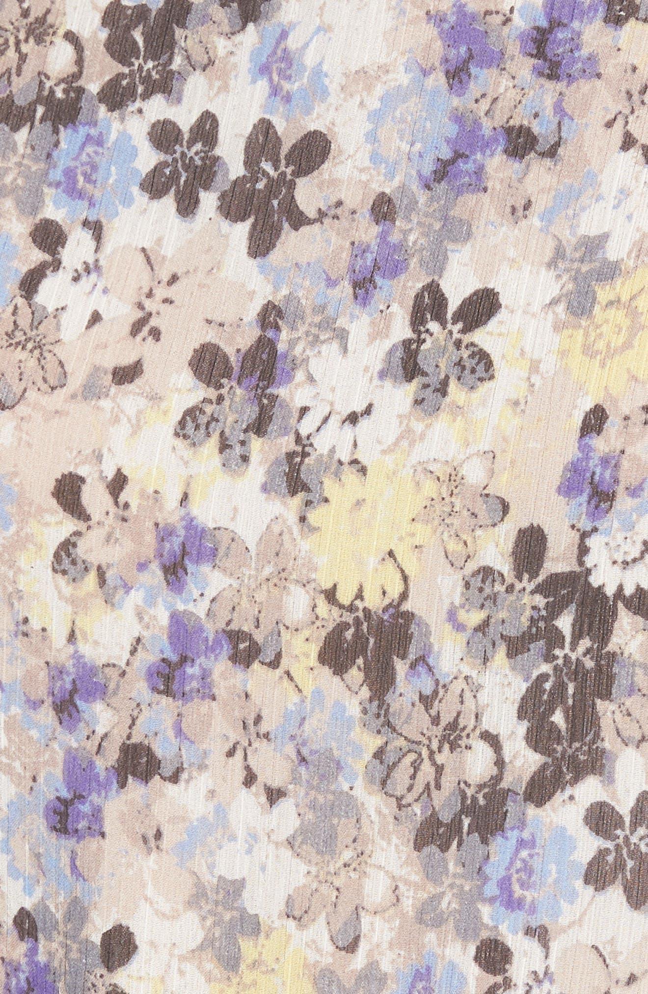 Floral Tie Back Top,                             Alternate thumbnail 6, color,                             Blue Multi