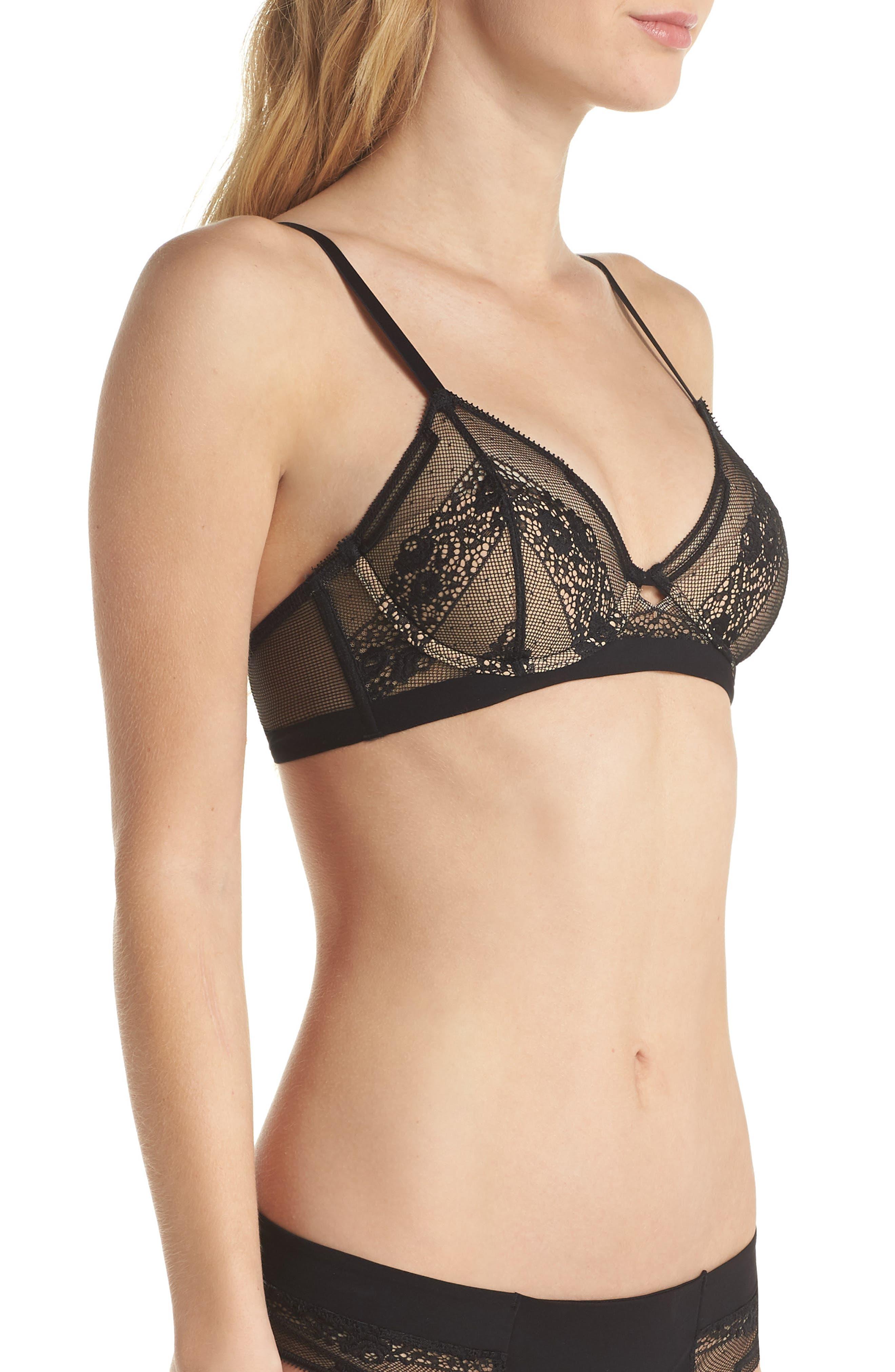 Alternate Image 3  - Calvin Klein Lace Triangle Bralette